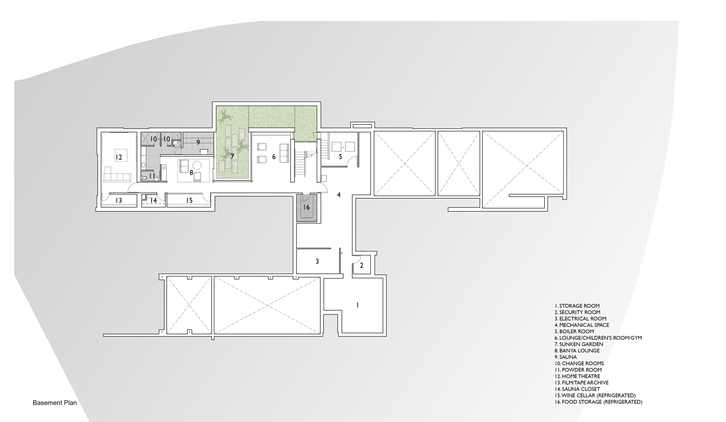 Basement Plan | Russia House | Jennifer Turner Architect