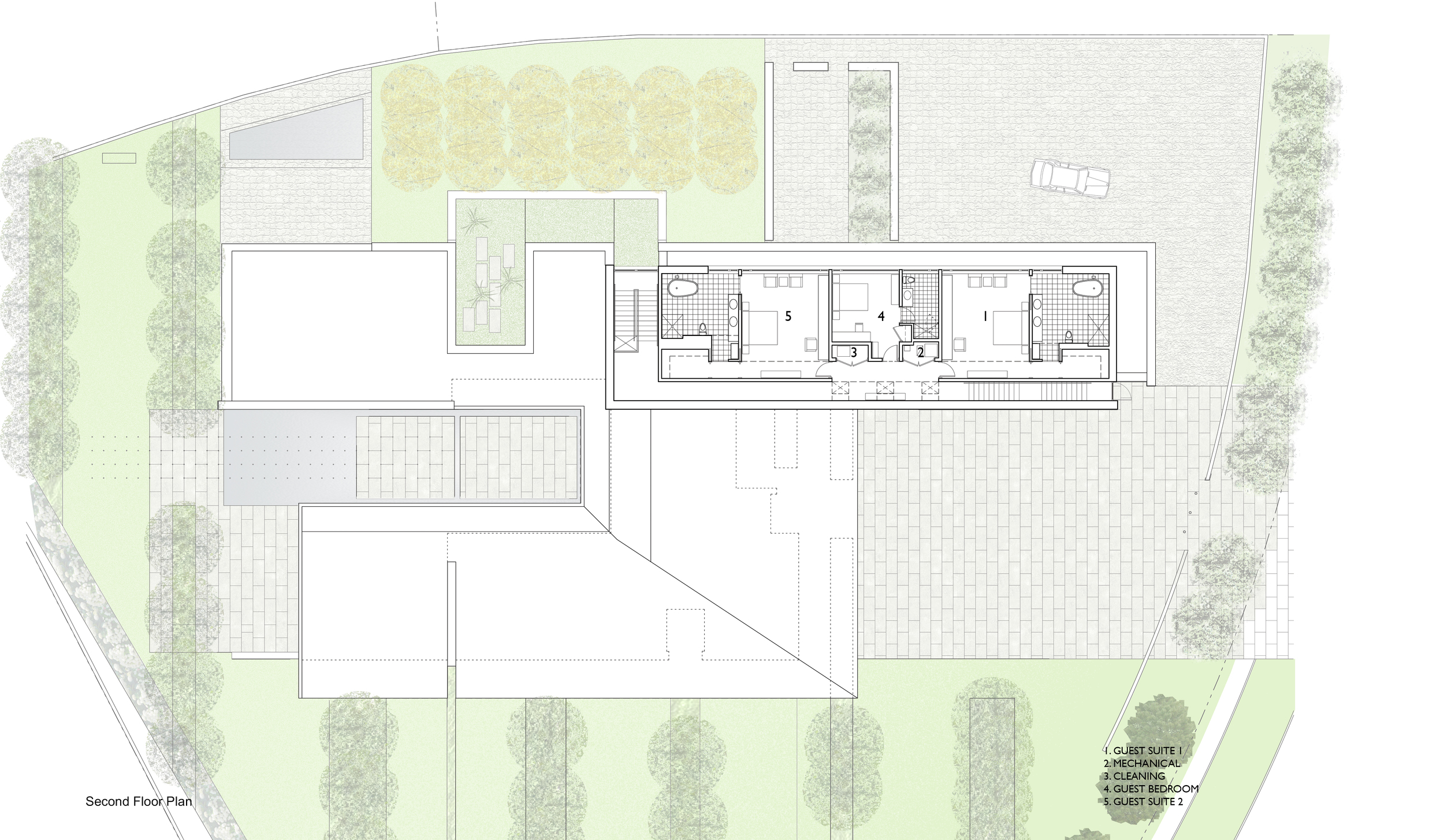 Second Floor Plan | Russia House | Jennifer Turner Architect