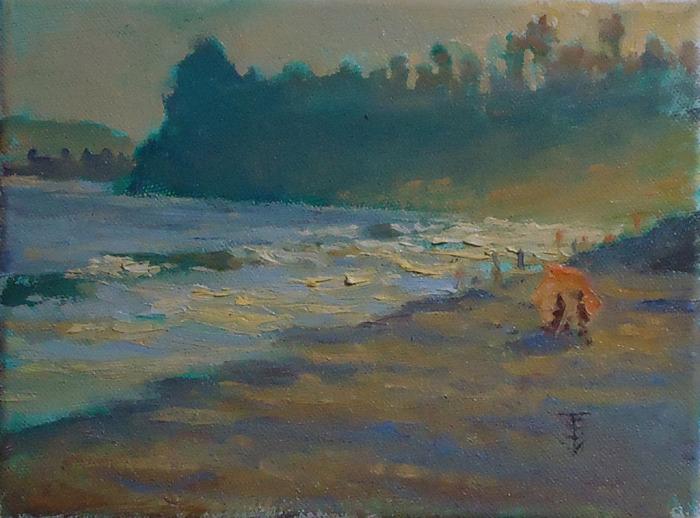 Butterfly Sunbathers, 6 x 8 | oil on canvas