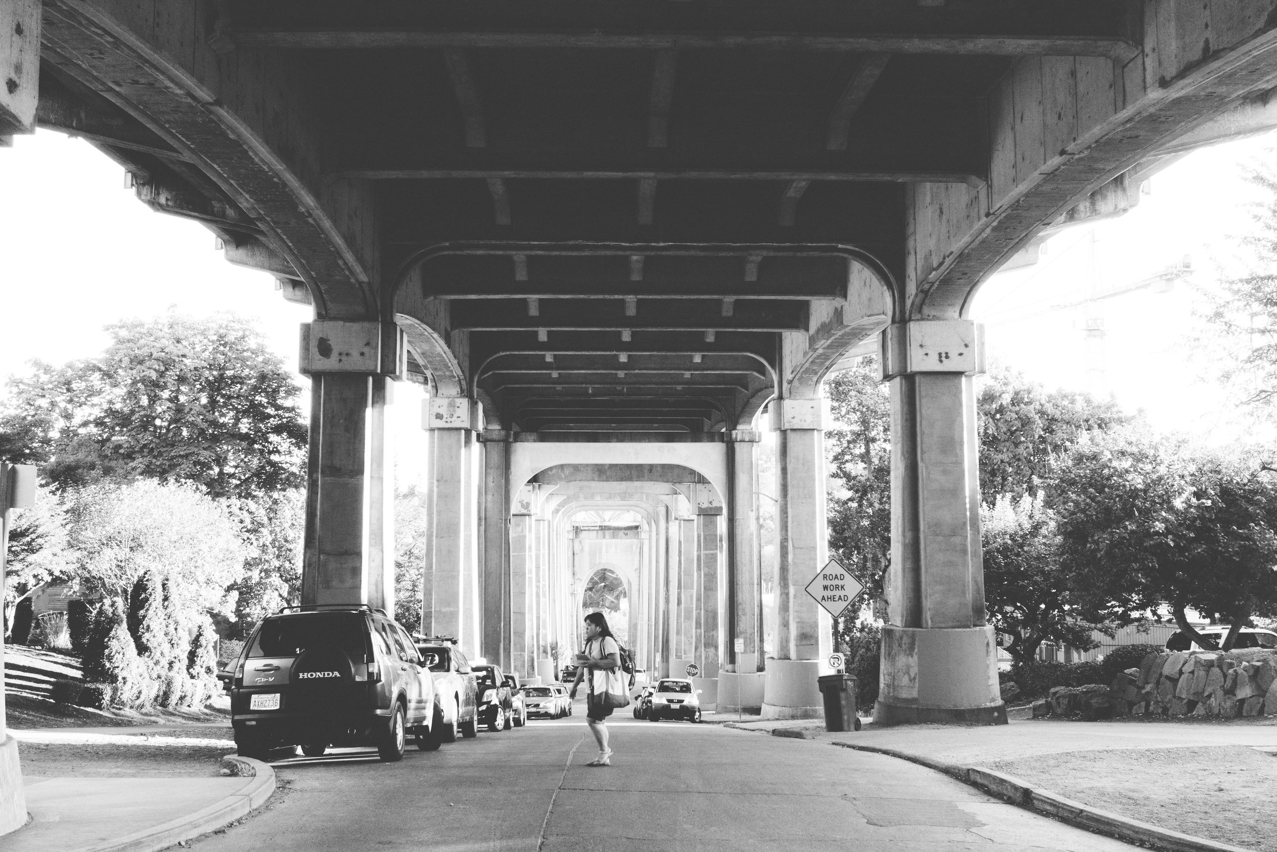 under the fremont bridge pt.2 - b+w