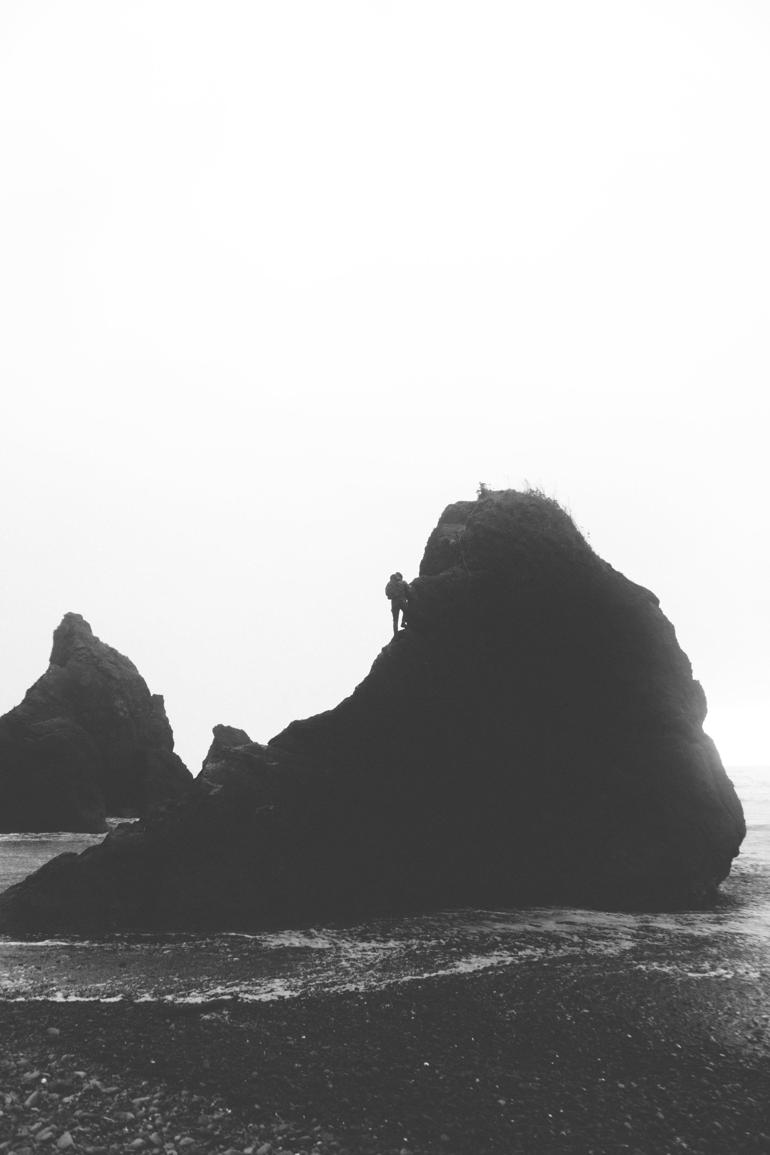 ruby beach - b+w