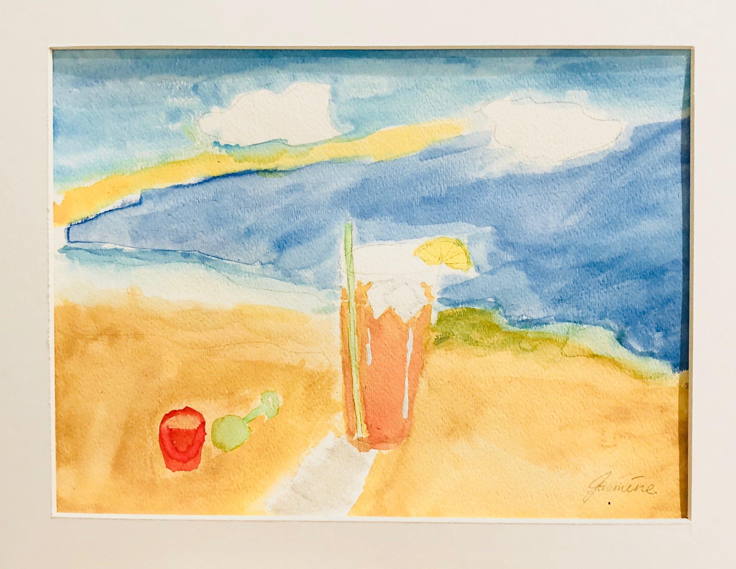 Jasmine, grade 7, Watercolor. Week of Sept 11.