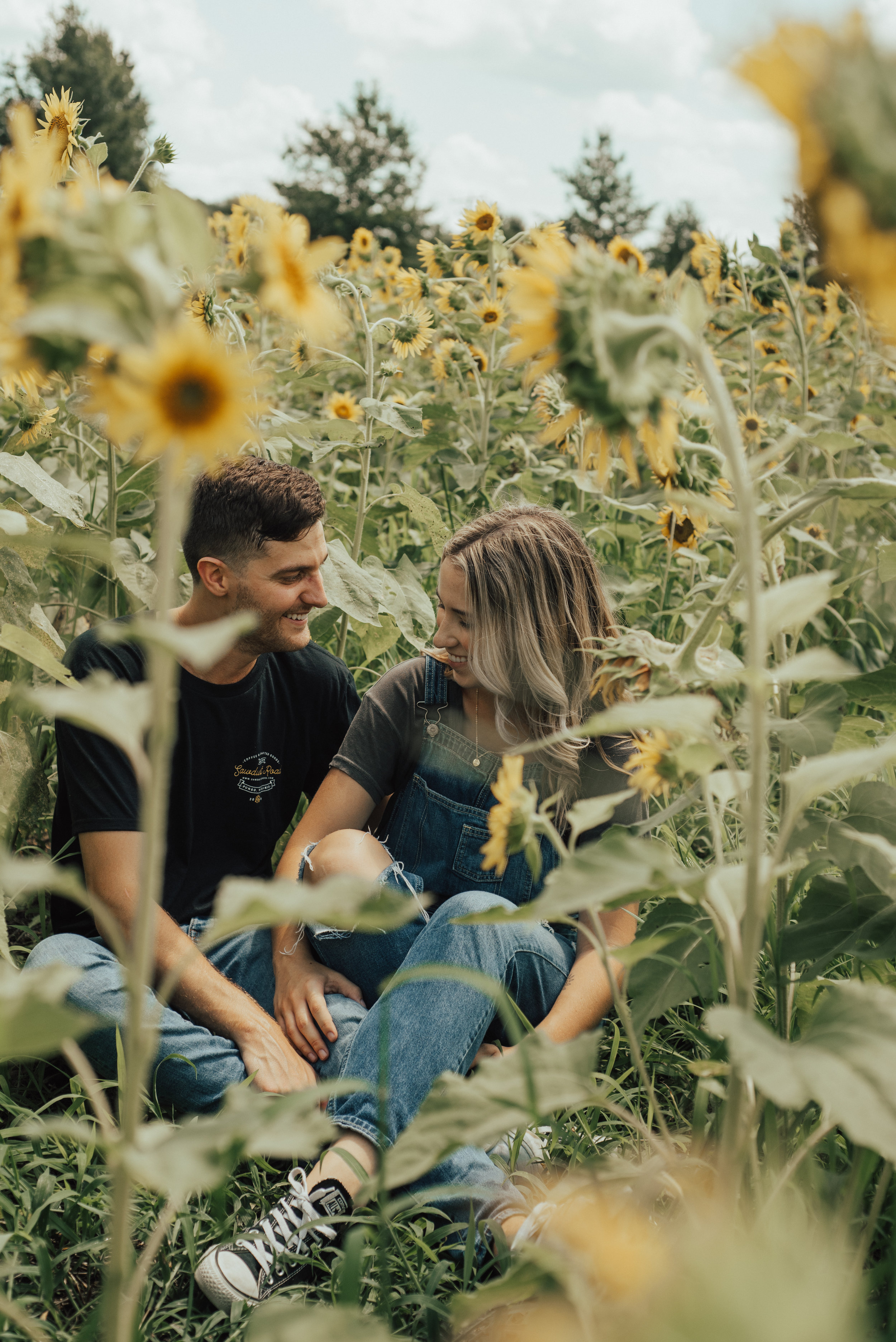Sunflower Couple Session By SB Photographs
