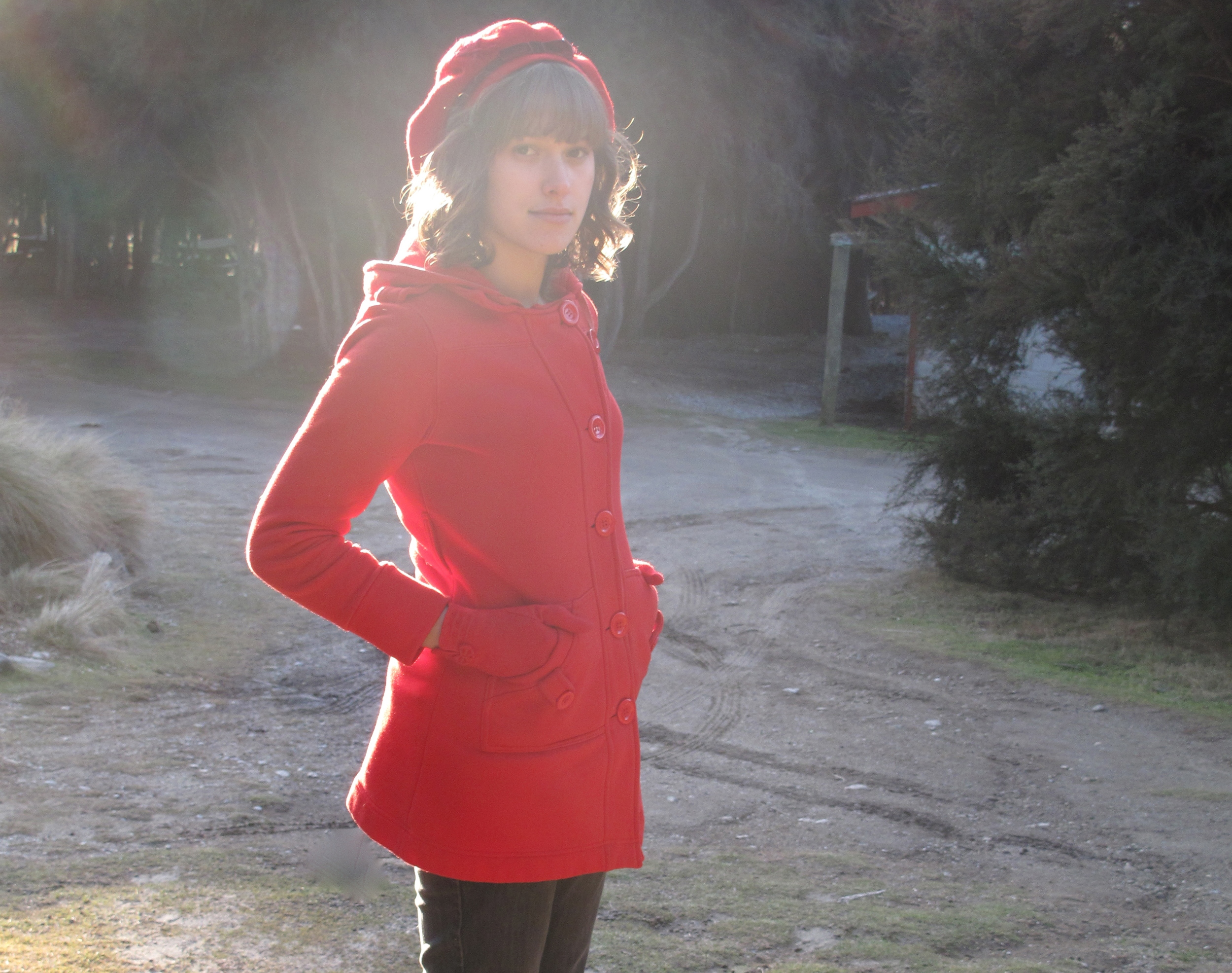 red riding hood in winter