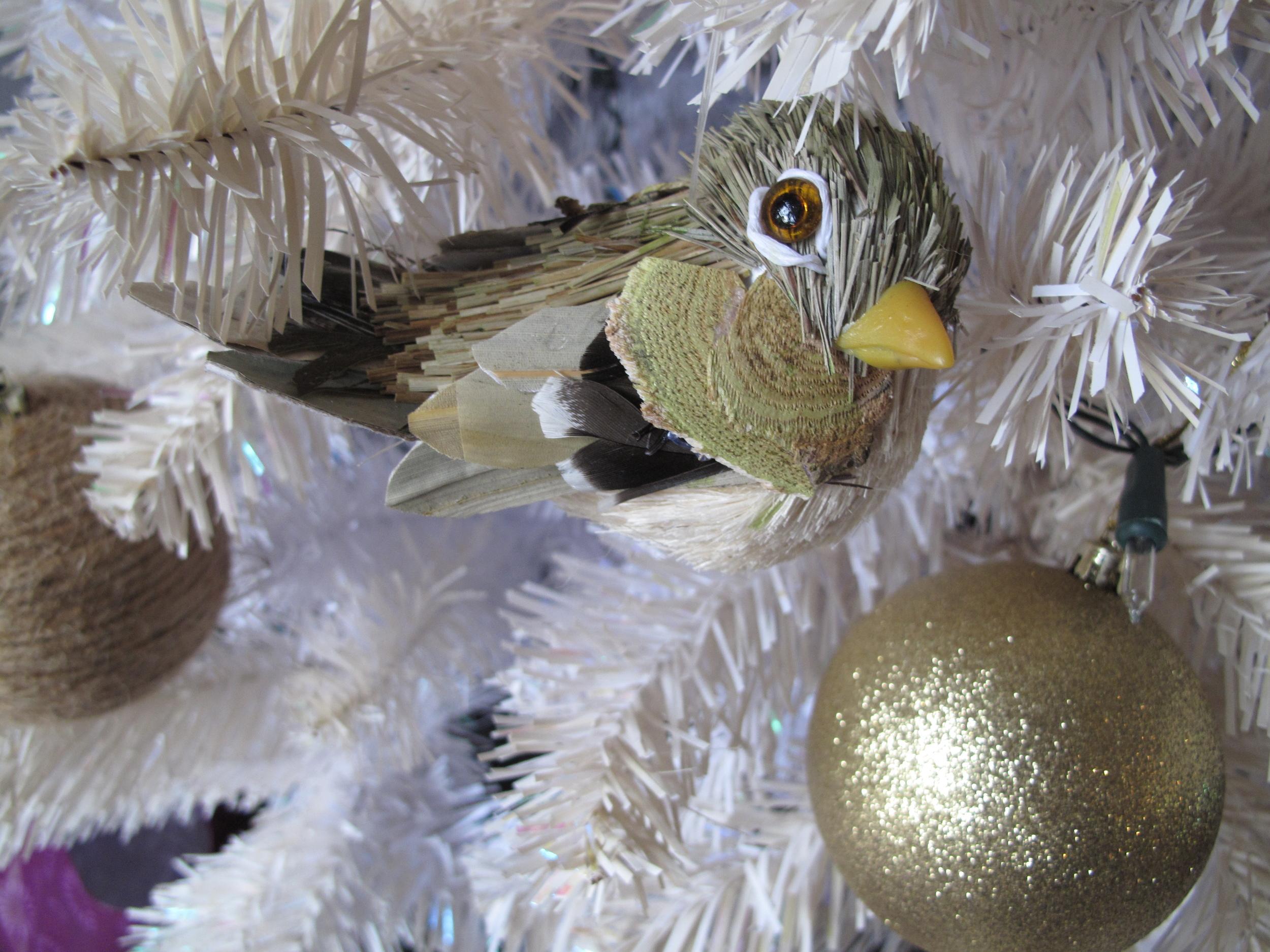 Vintage 1950's Christmas bird decoration