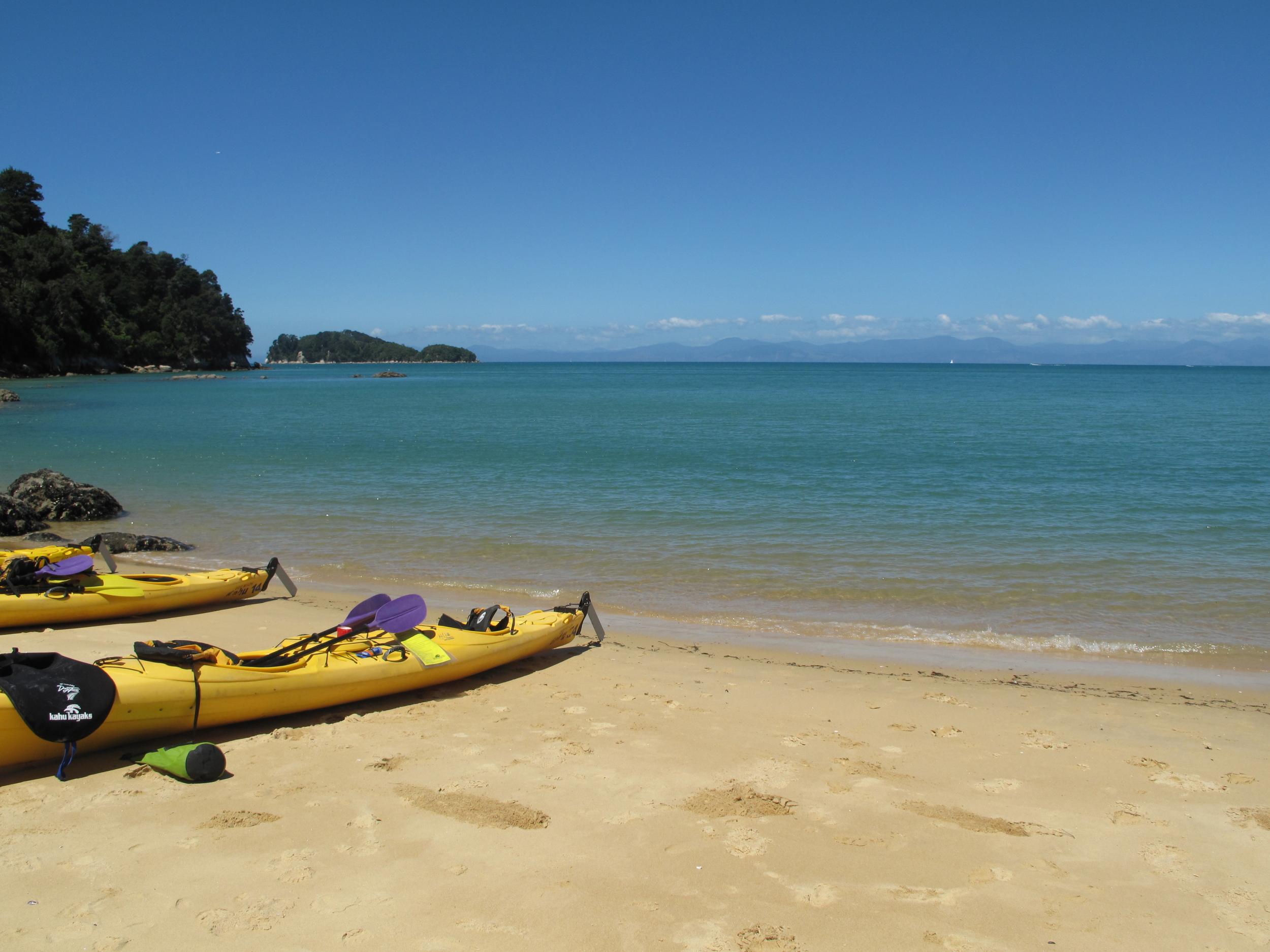 Kayaking on the Able Tasman NZ