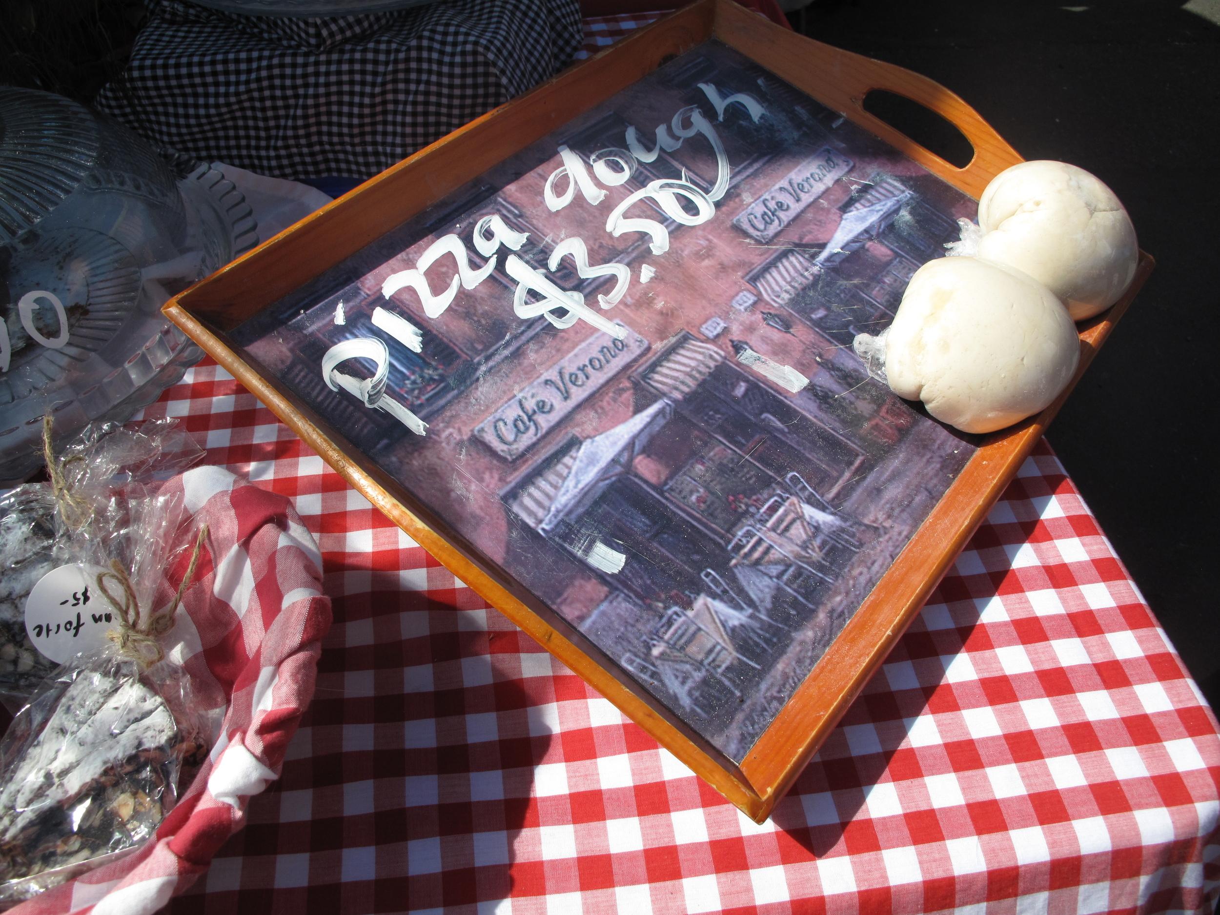 pizza dough farmer's market