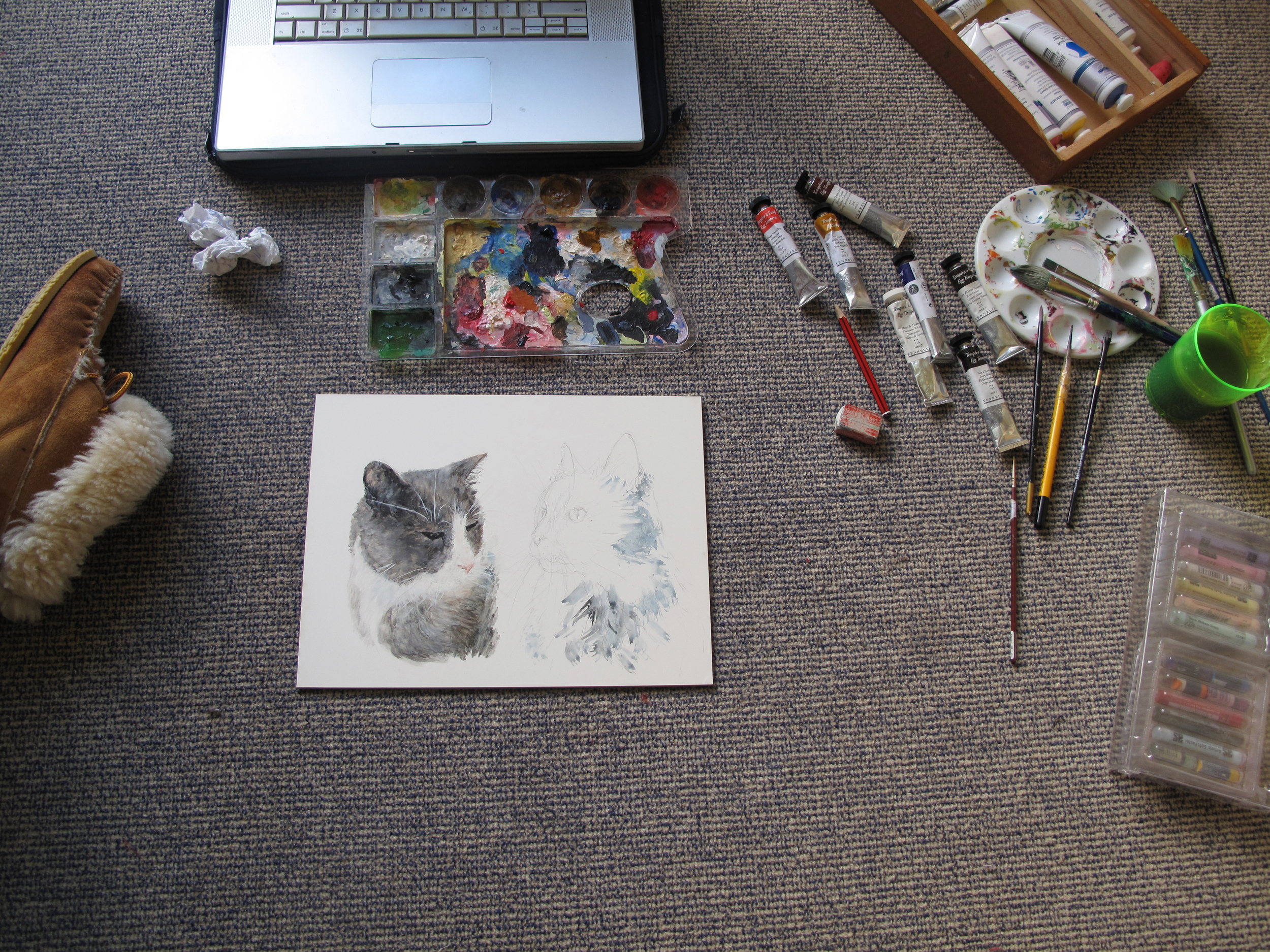 Painting of my grandparent's two cats