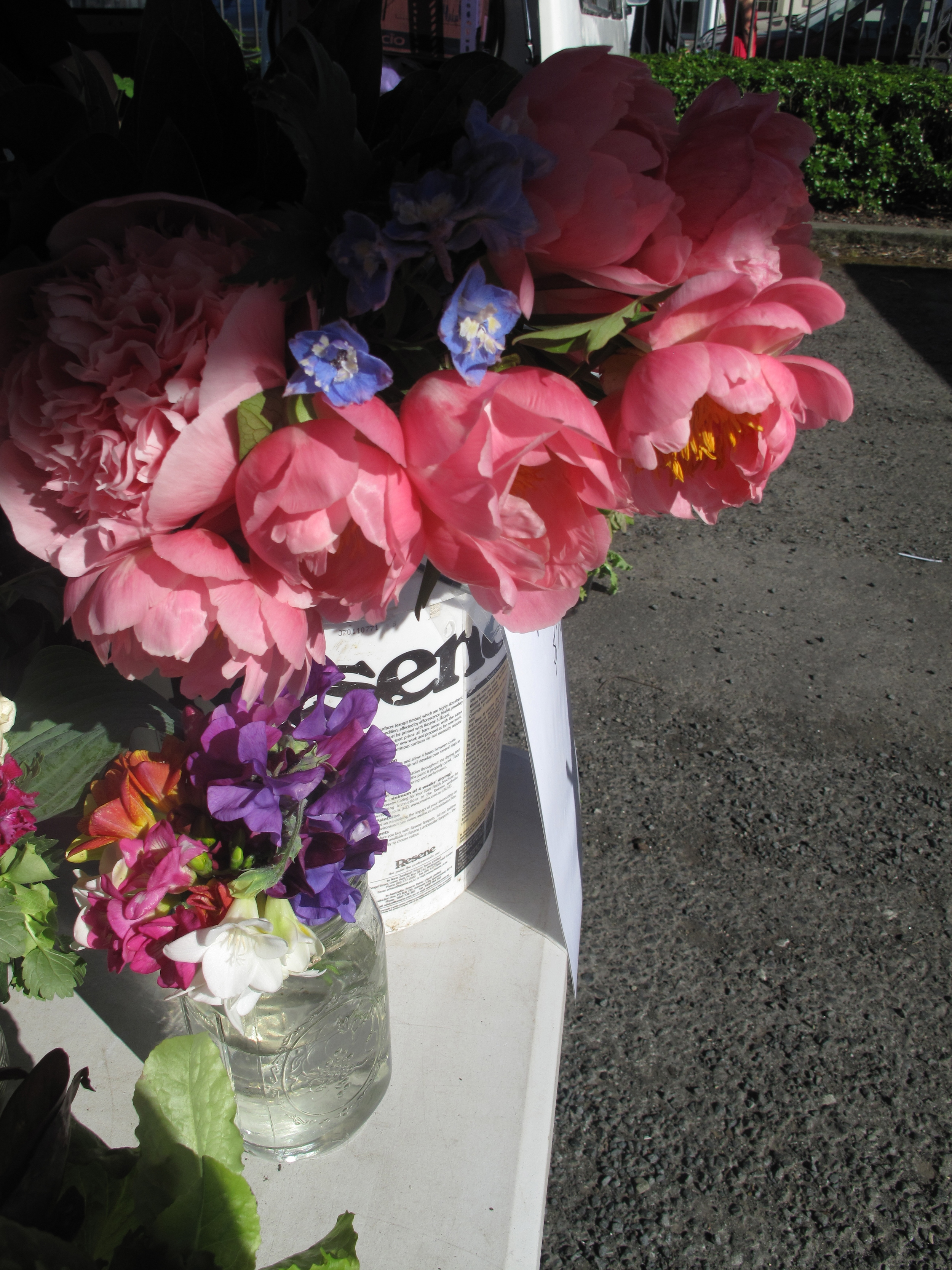 Flowers by the bundle at the farmer's market