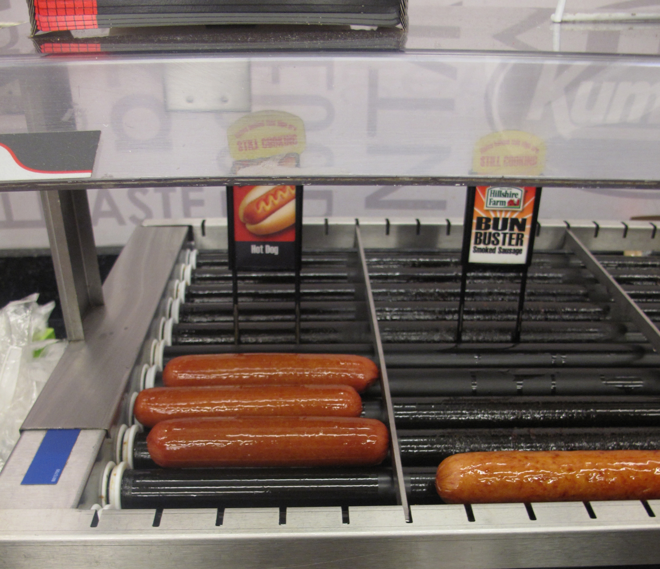 Gas Station rotating hot dogs