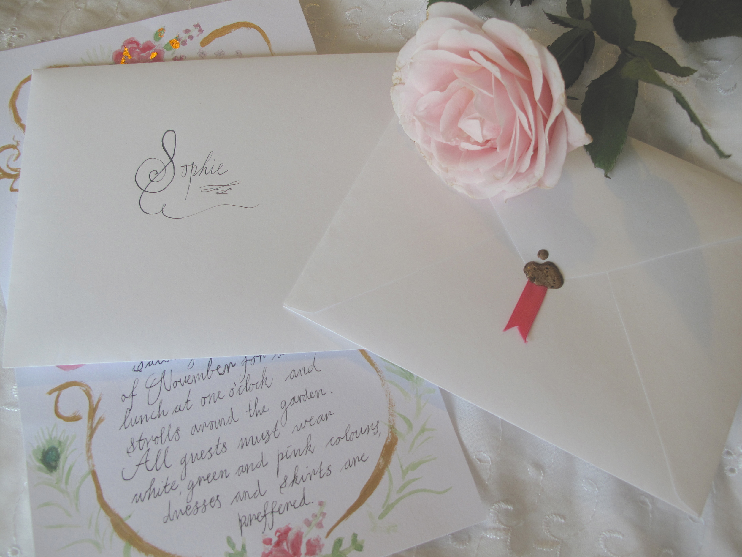 Marie Antoinette party invitations