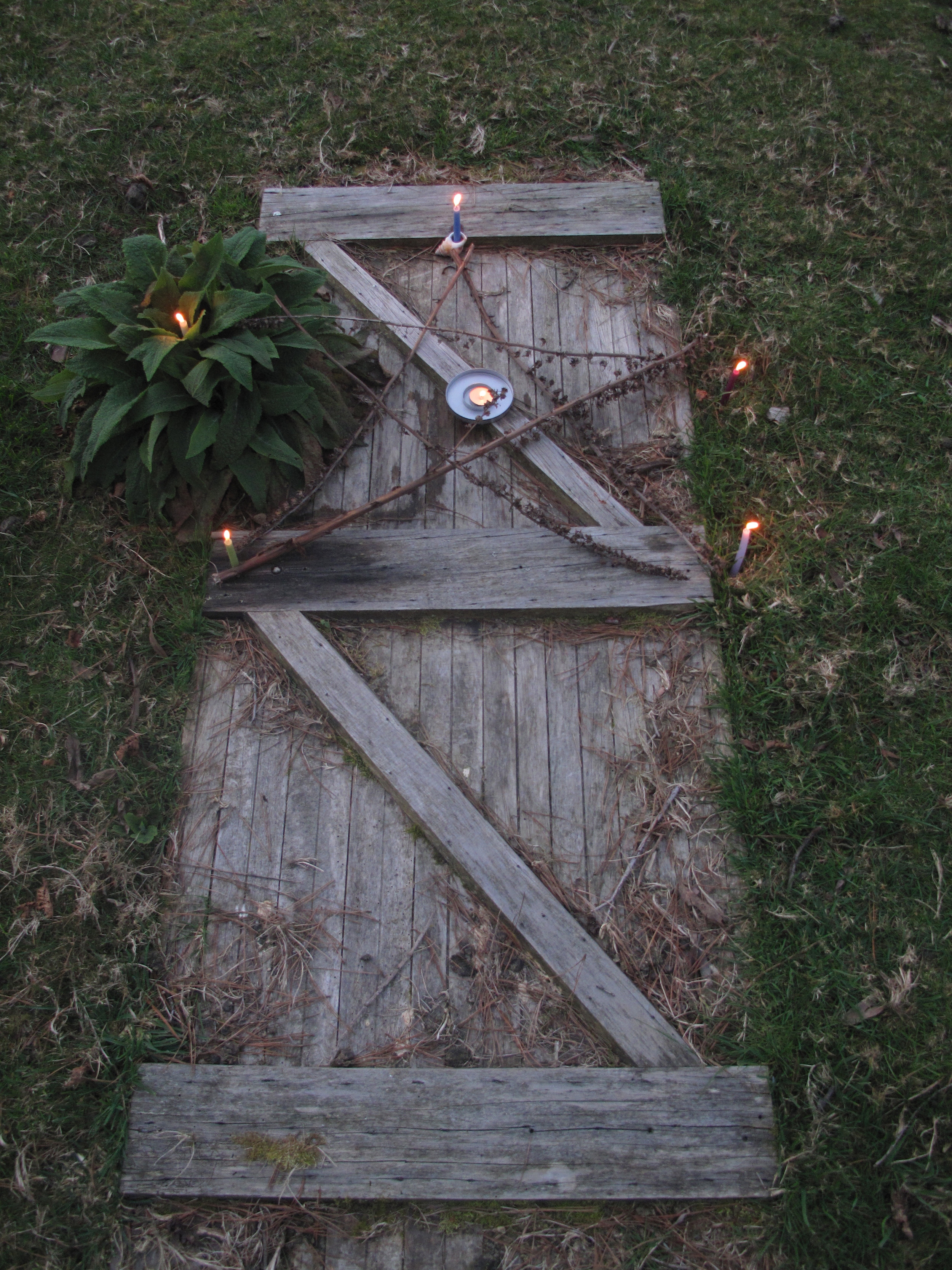 Portal door to the fairy land, into the earth.