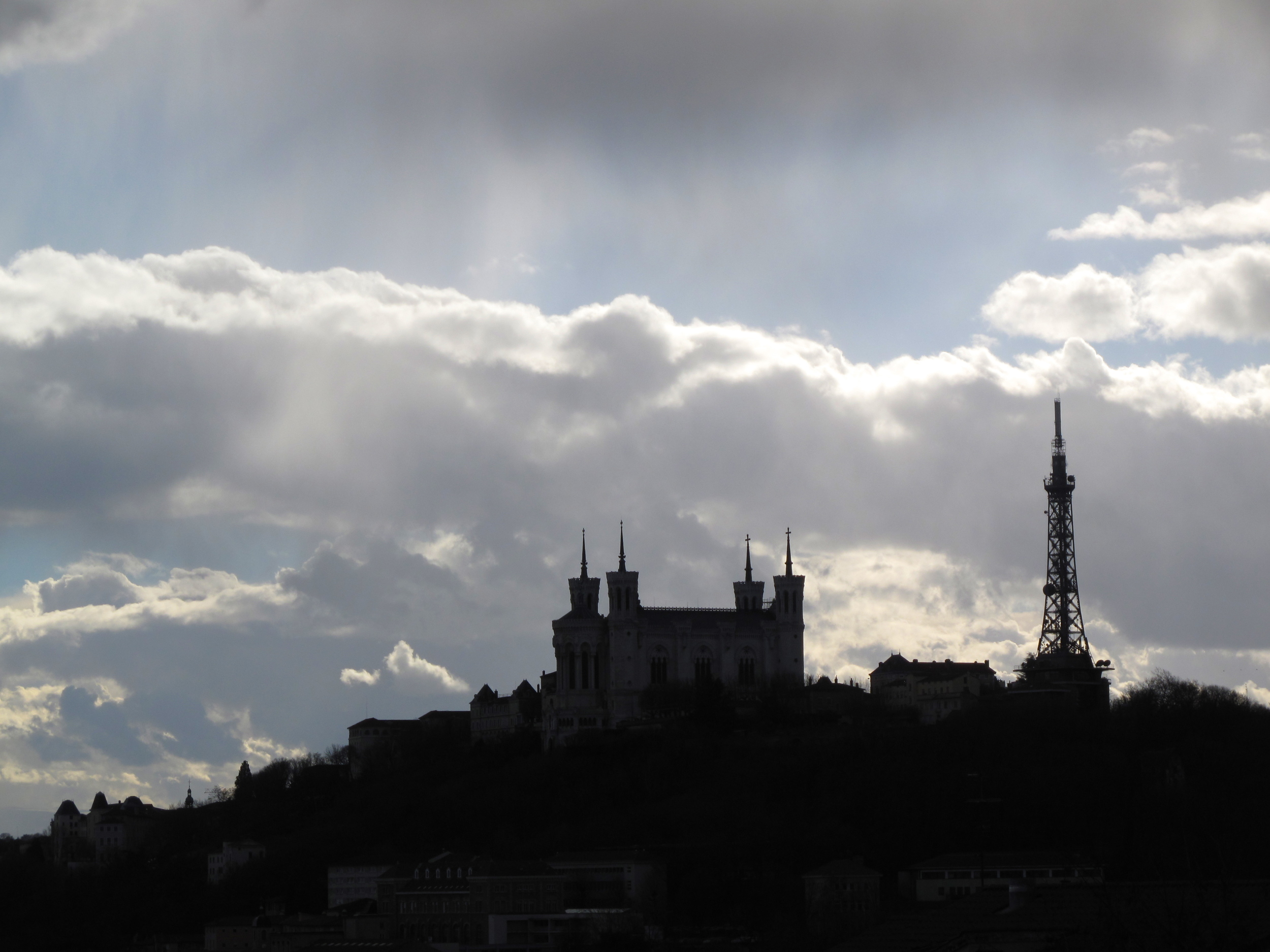 The view of Fourvière from the Croix Rousse in Lyon
