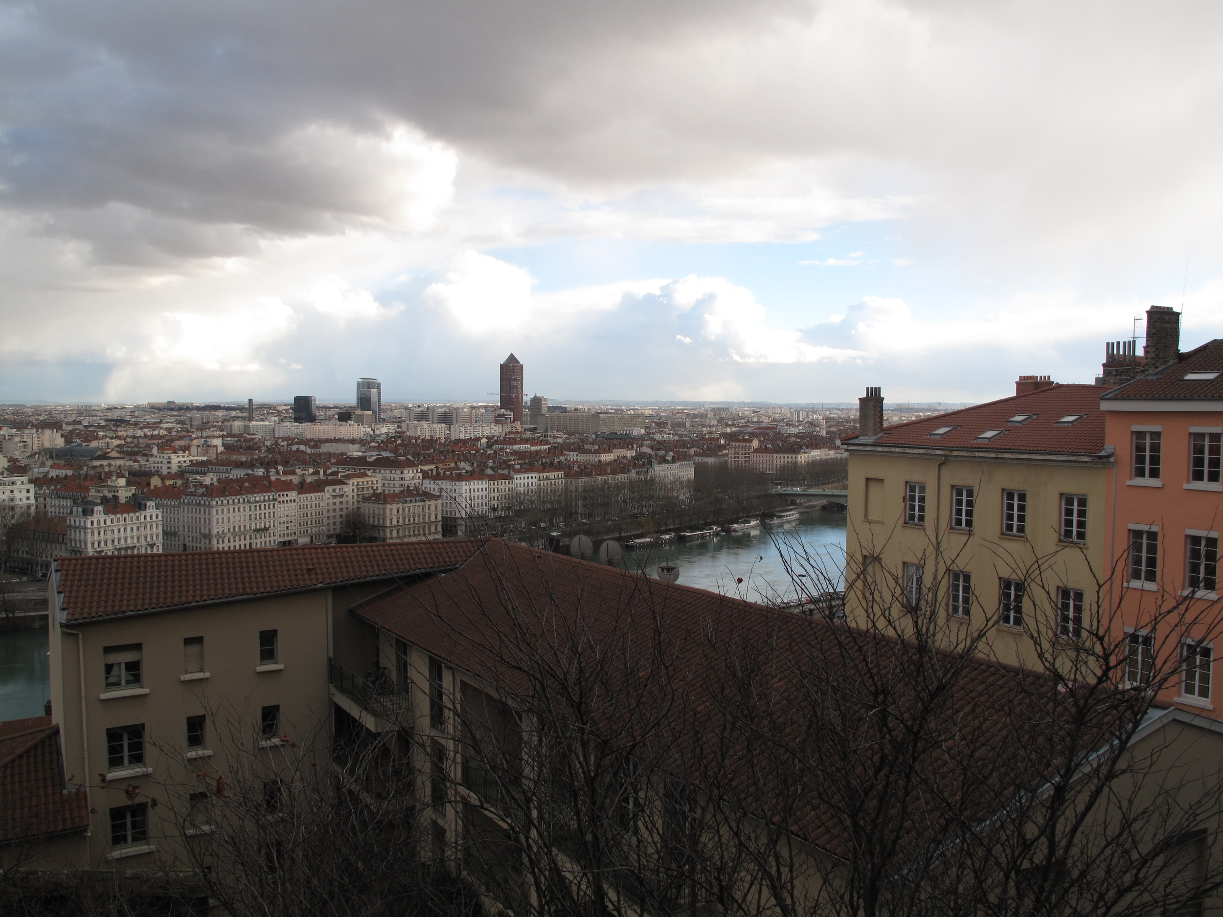 The view of Lyon from the Croix Rousse