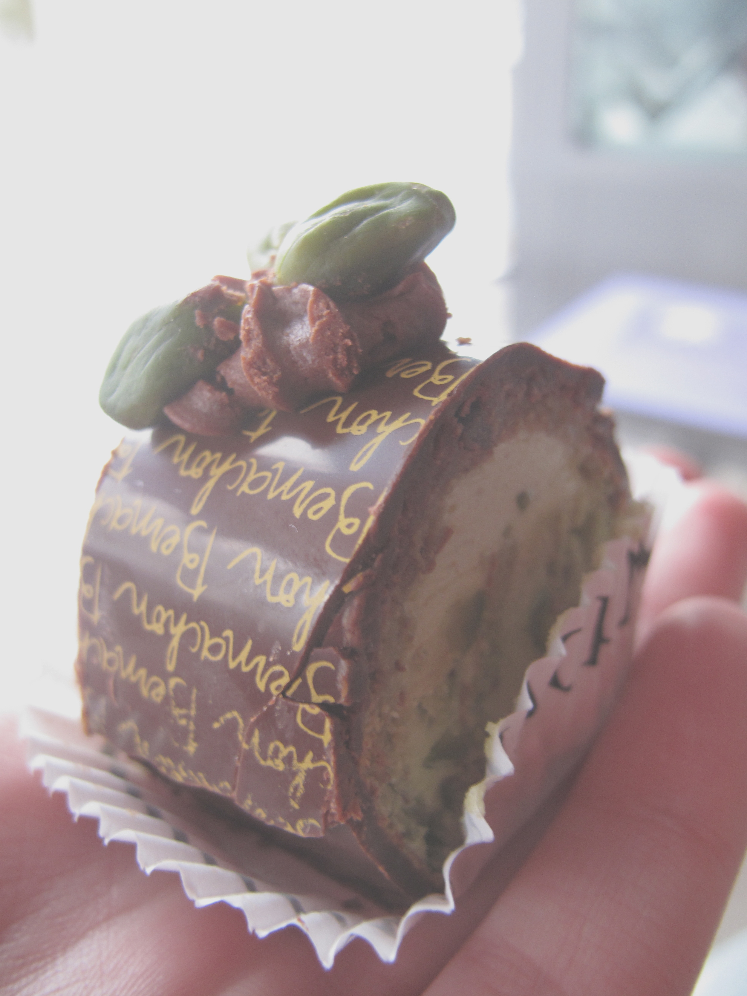 Chocolate and pistachio from Bernachon in Lyon