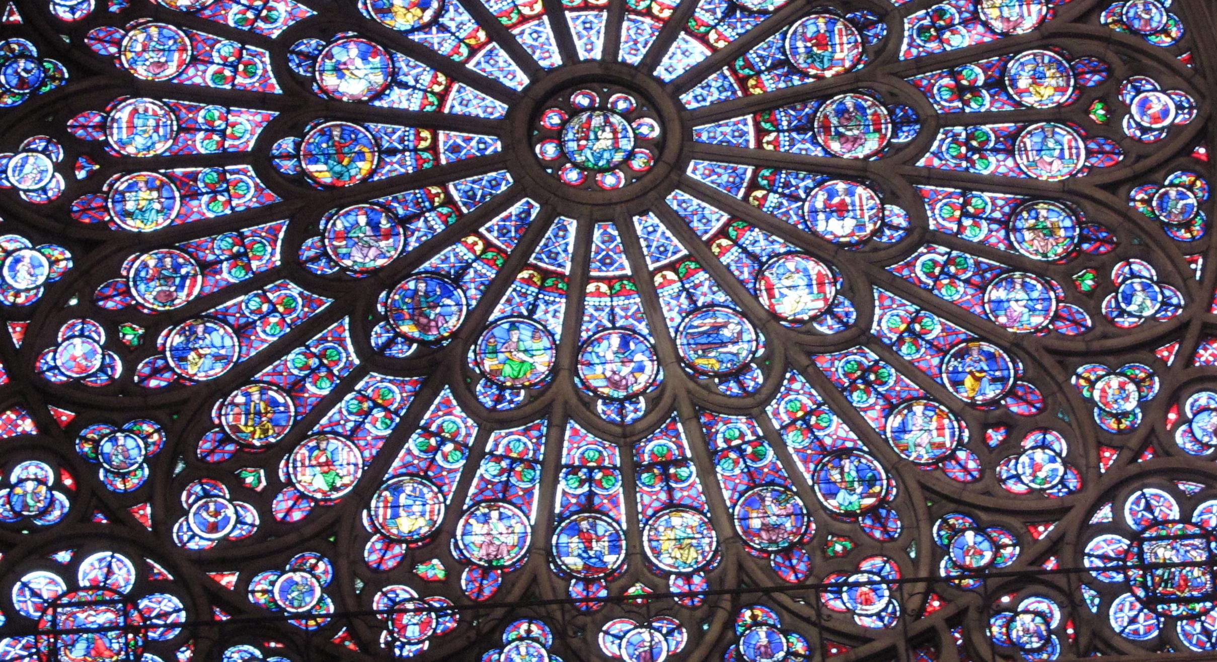 A cross section of the rose window of Notre Dame de Paris
