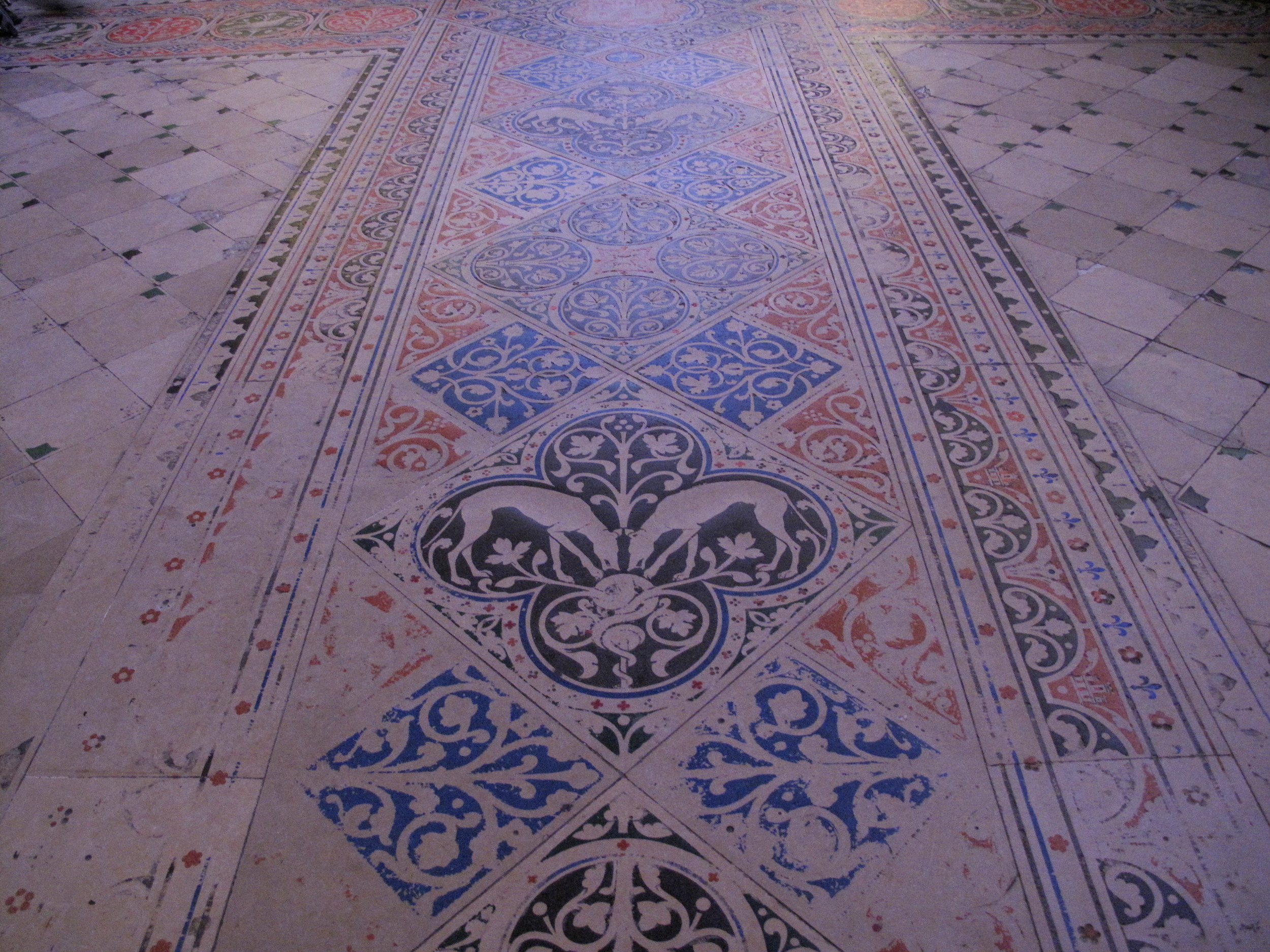 The floor tiles of Sainte Chapelle