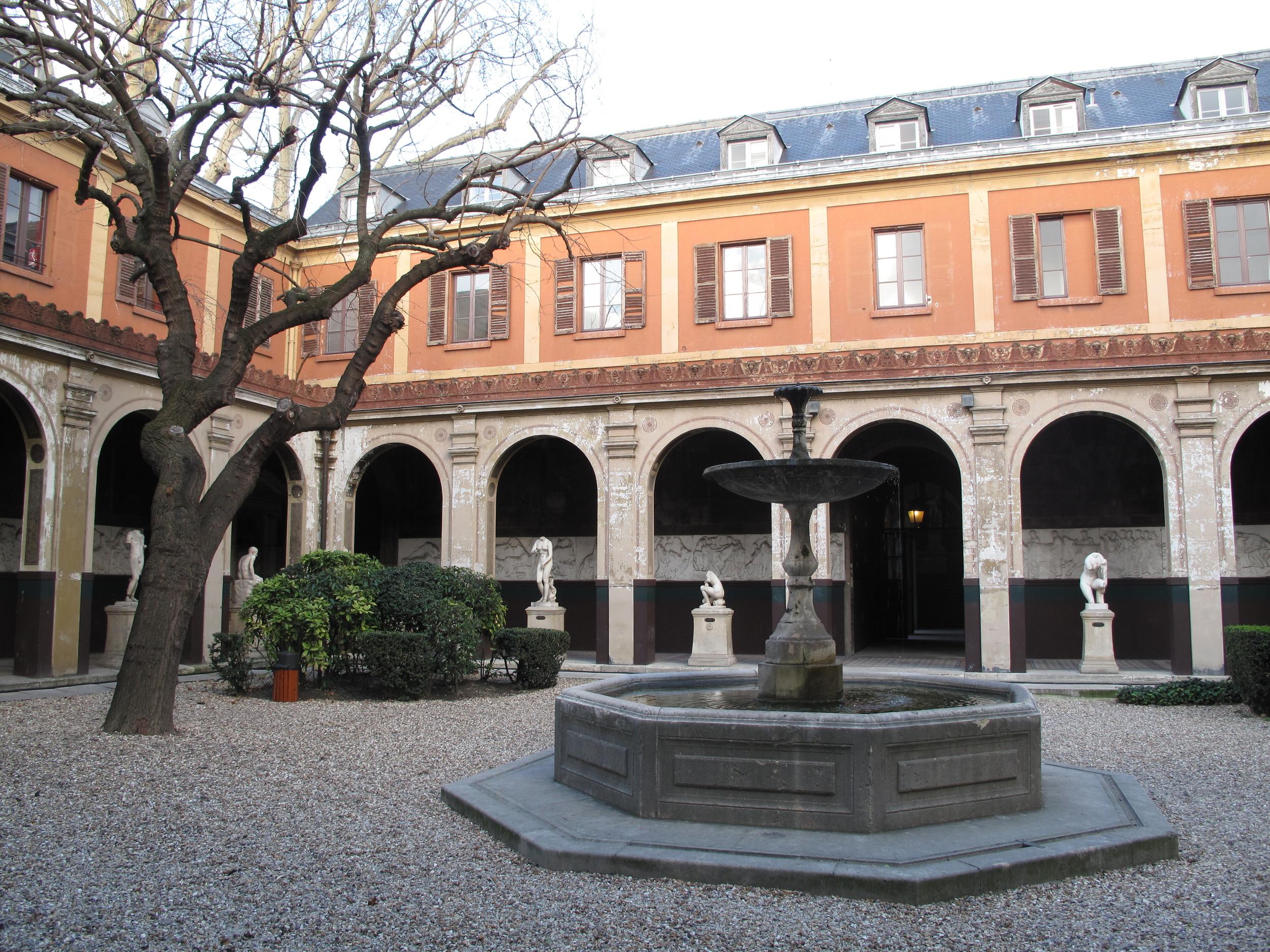 The École des Beaux-Arts courtyard, Paris Left Bank