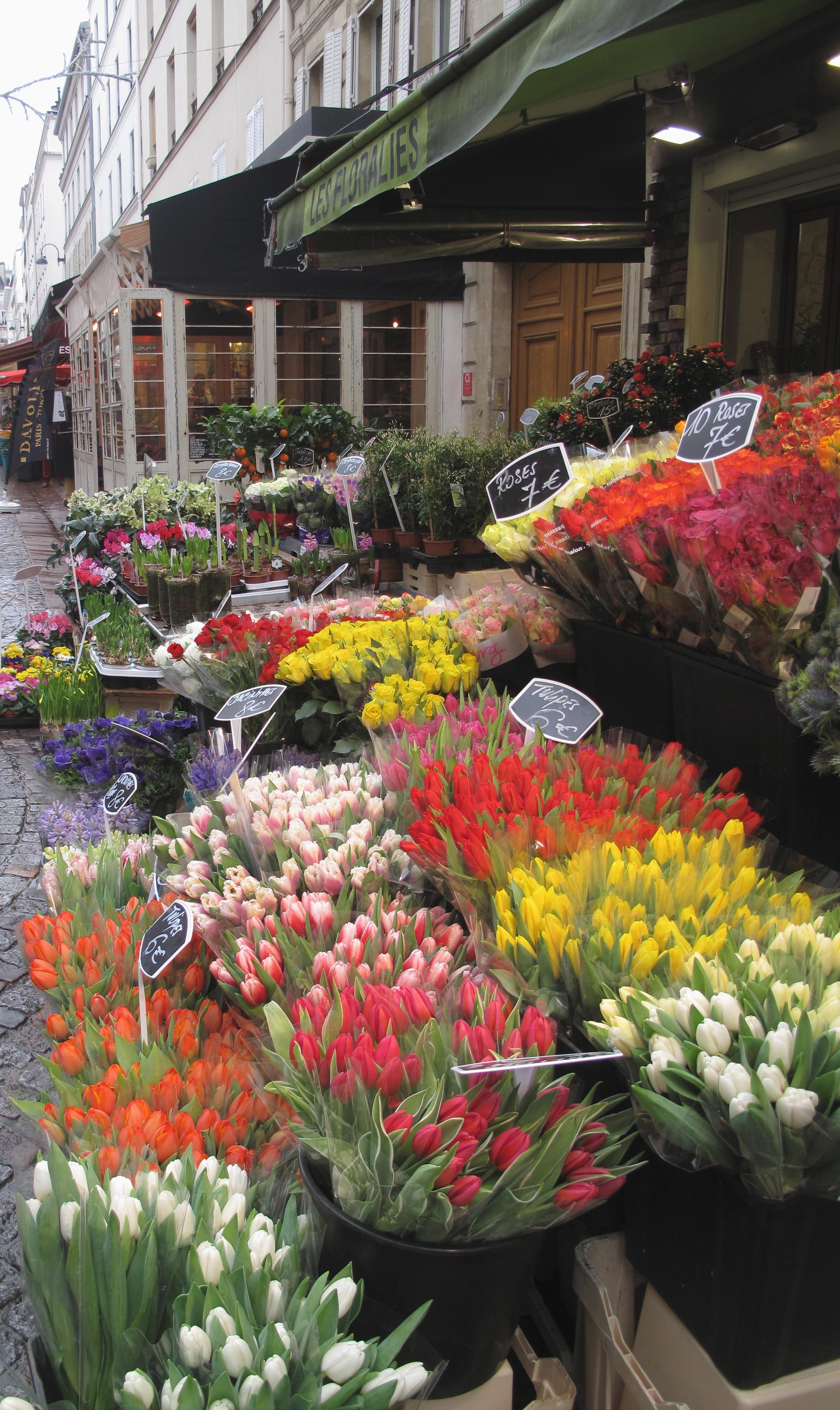Flowers at a market, Paris