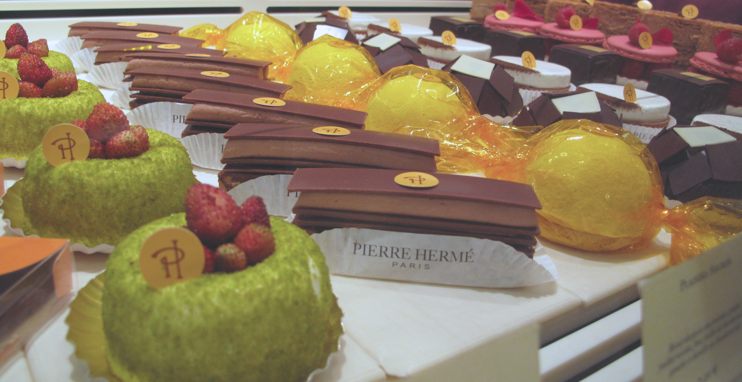 Colourful pastries at Pierre Hermé near Place St Sulpice