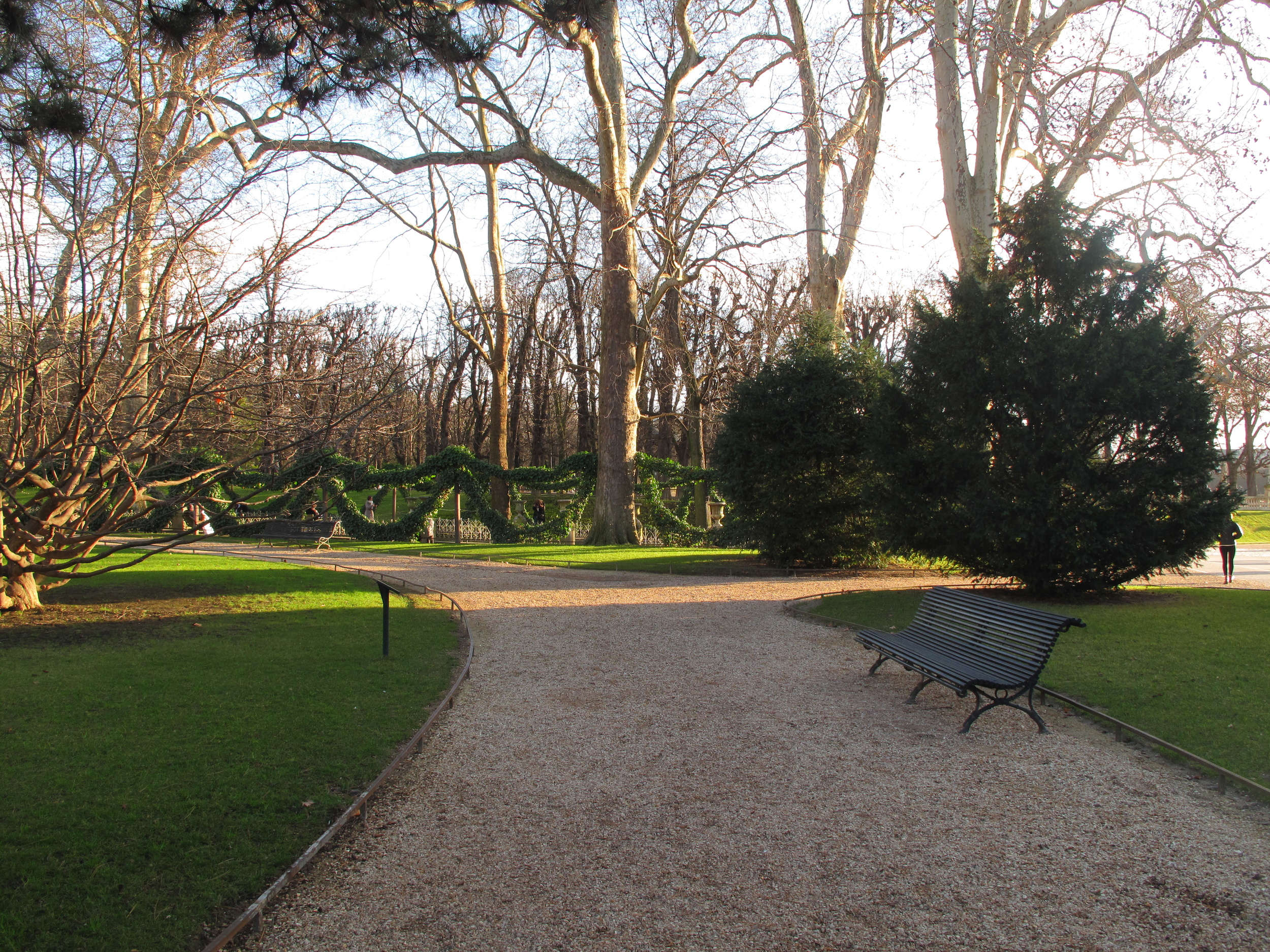 The perfect paths of Luxembourg gardens Paris