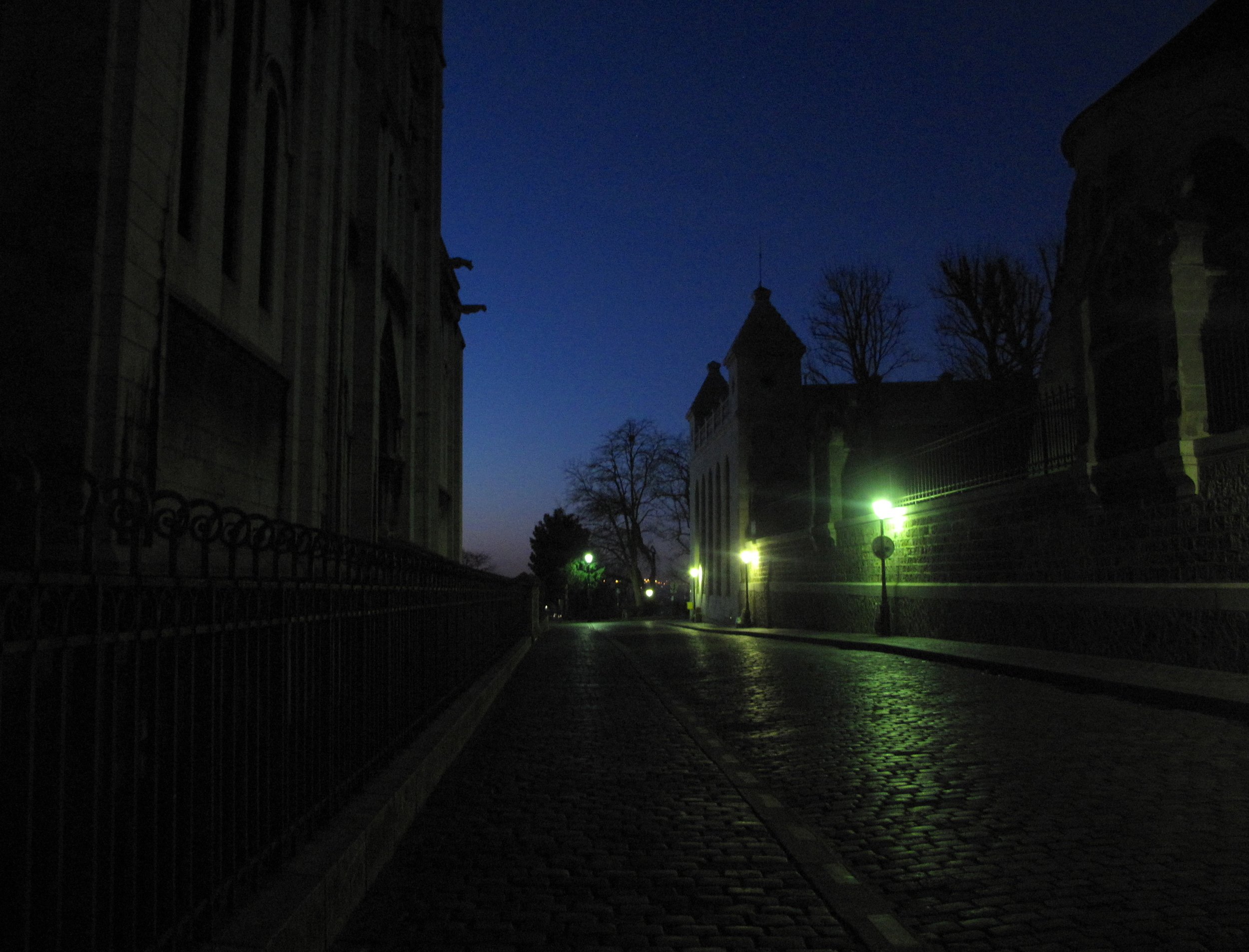 Running to catch the sunrise at Sacrè Coeur