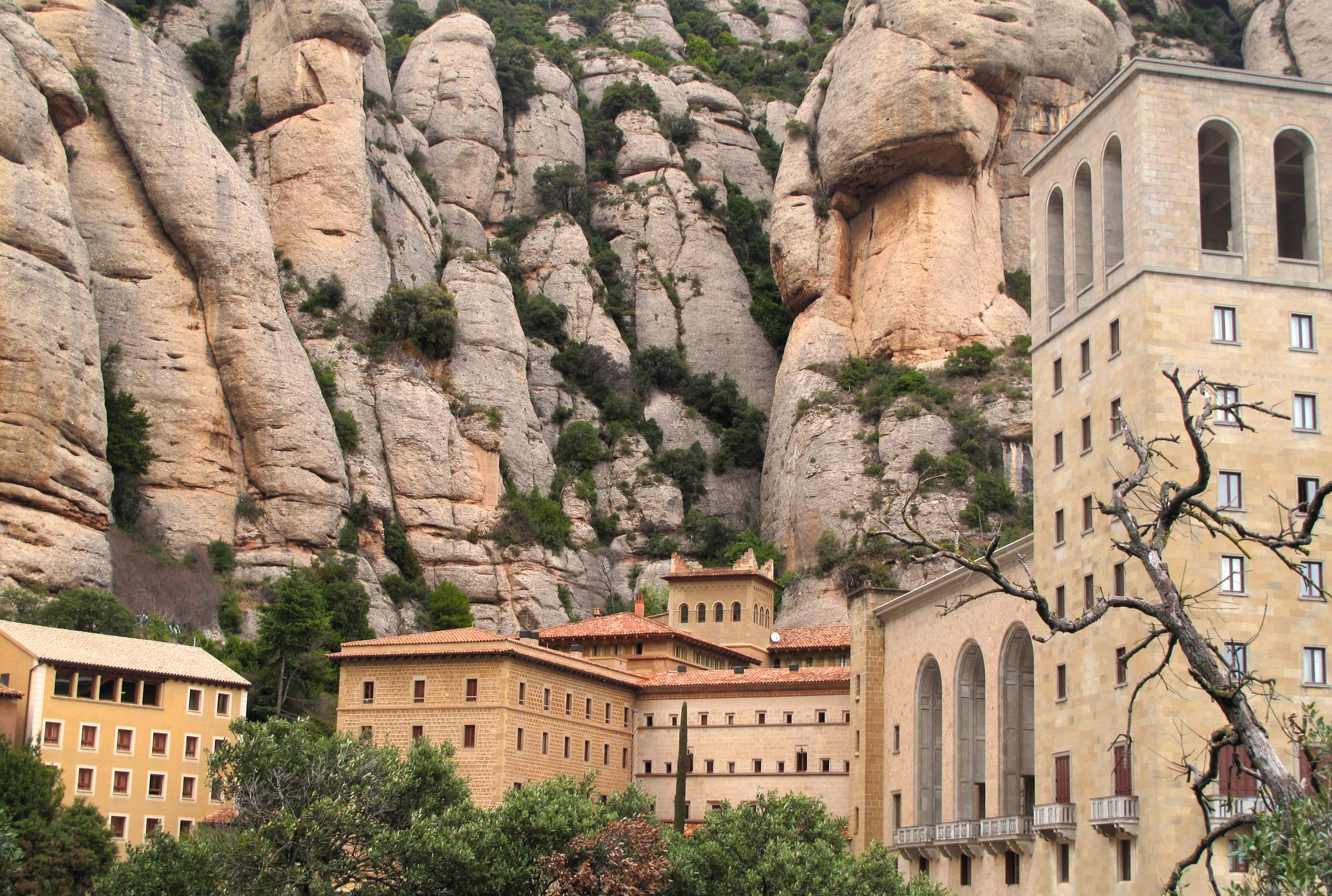 Monserrat monastery nestled in the hills of Catalonia