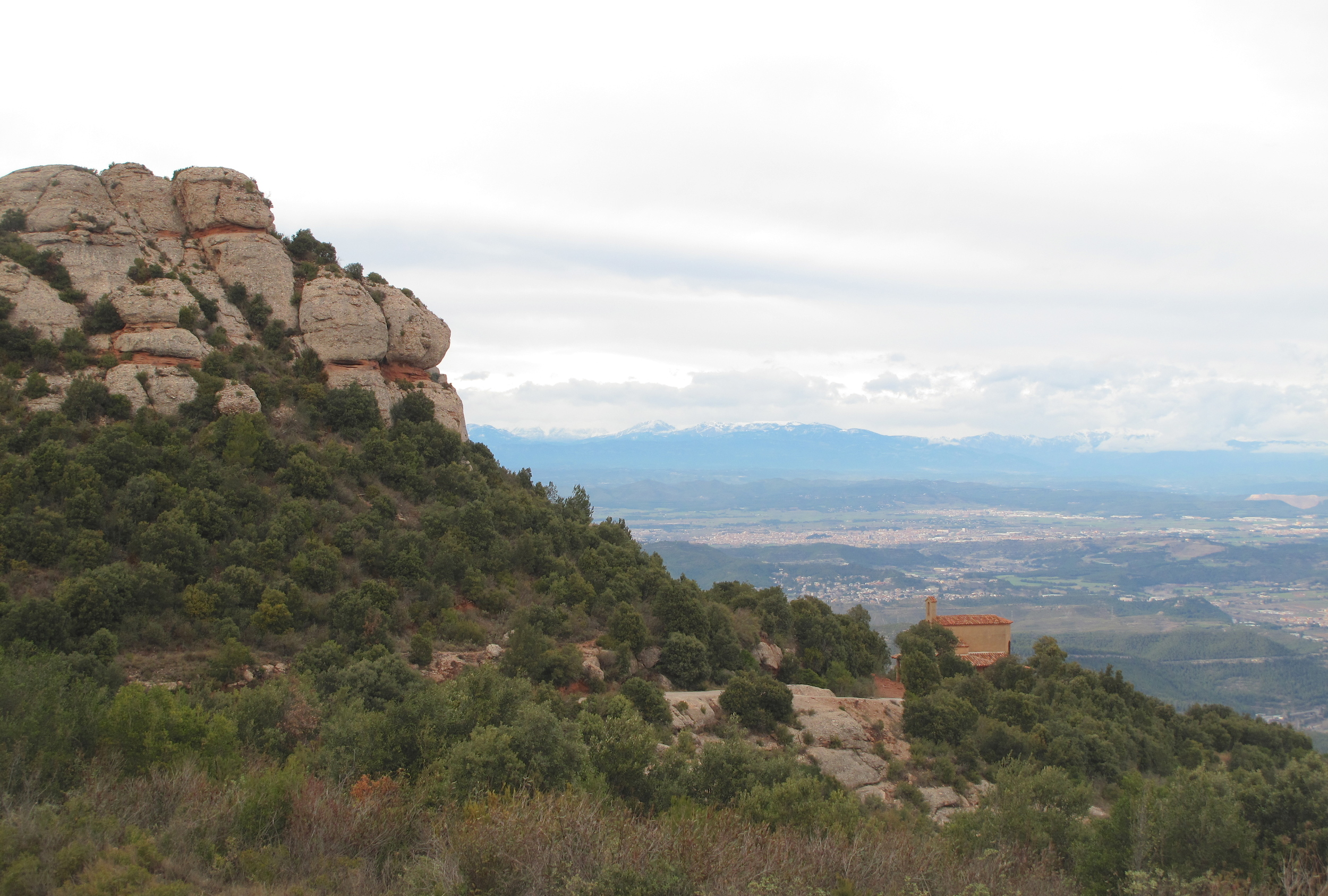 A small mountain monastery, hills and great views of Catalonia