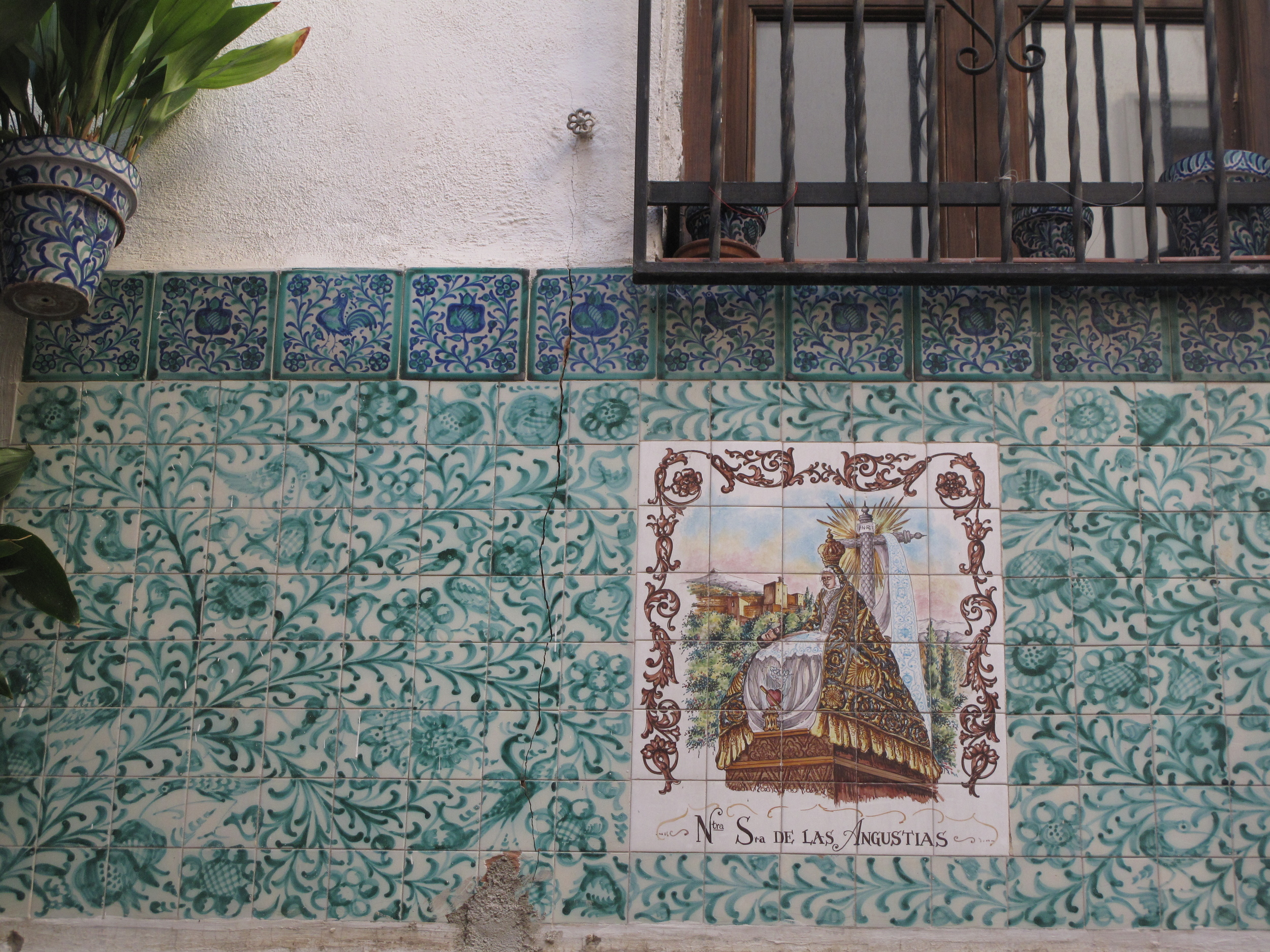 Tiled walls in the old market quarter of Granada