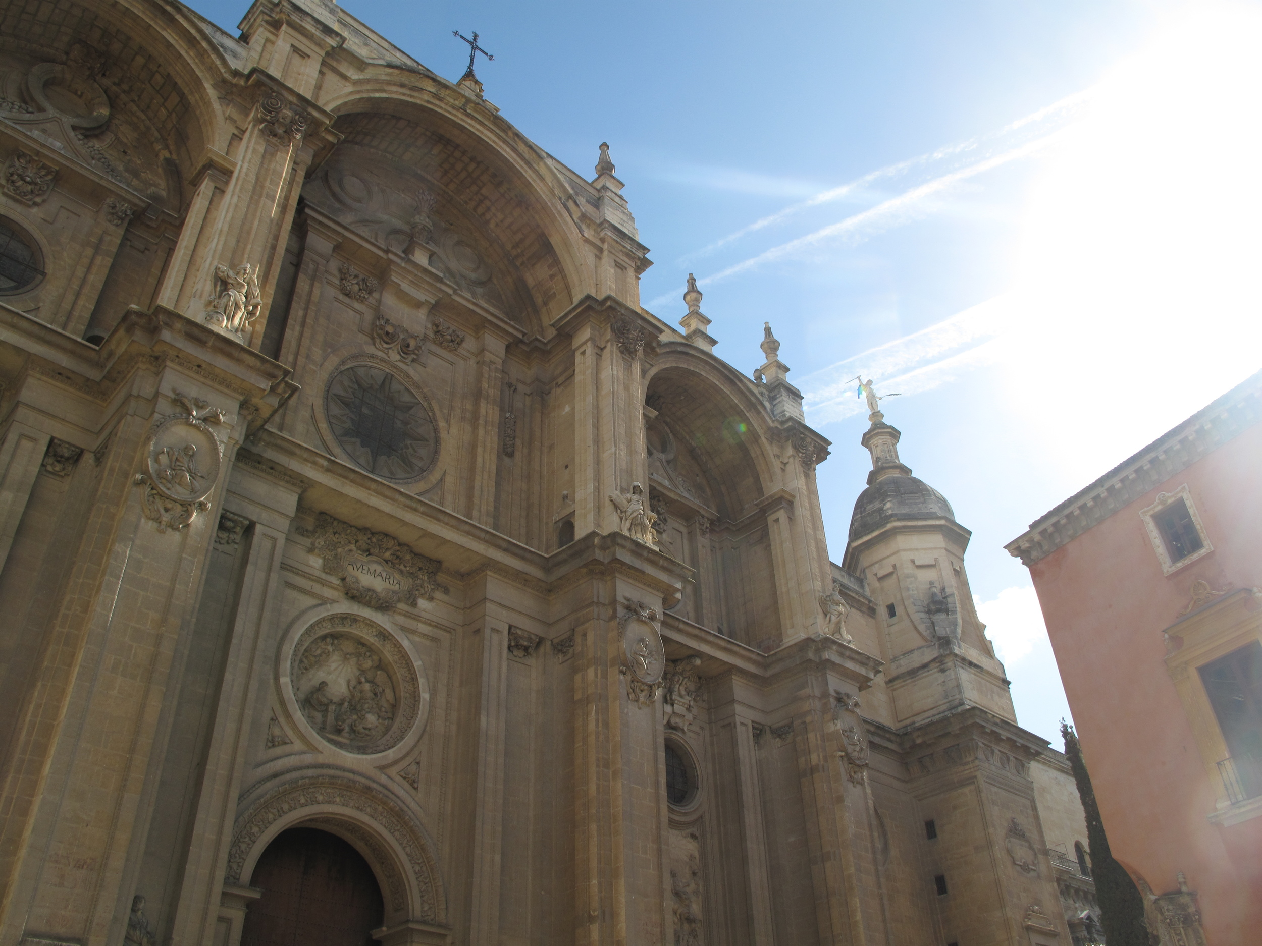 Stunning Granada cathedral in the sun
