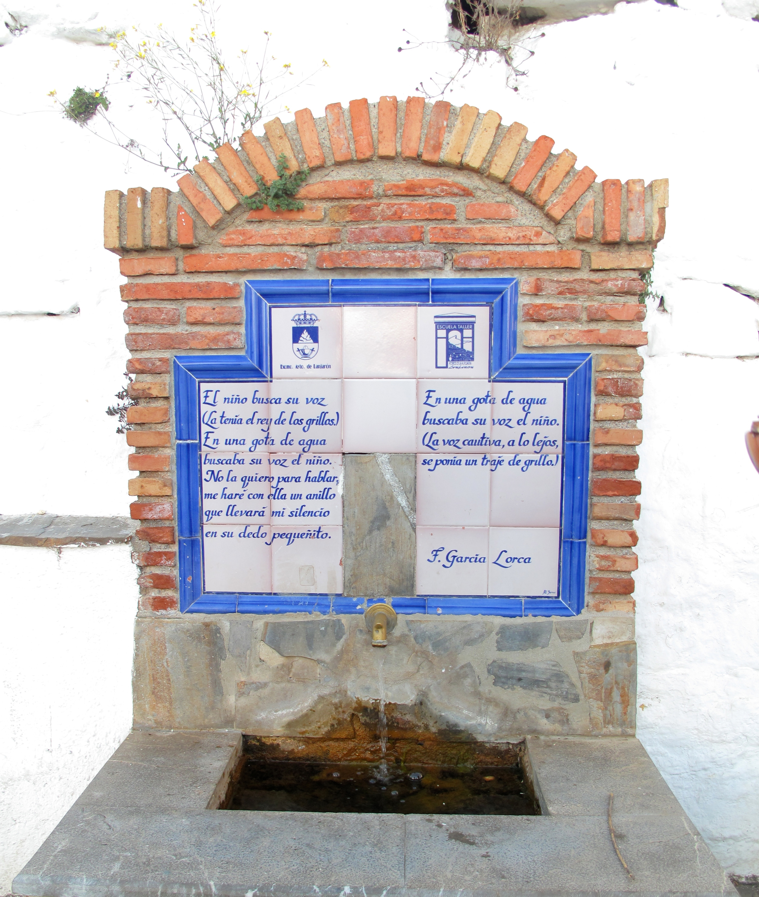 Fountain of healing in the Spanish mountains