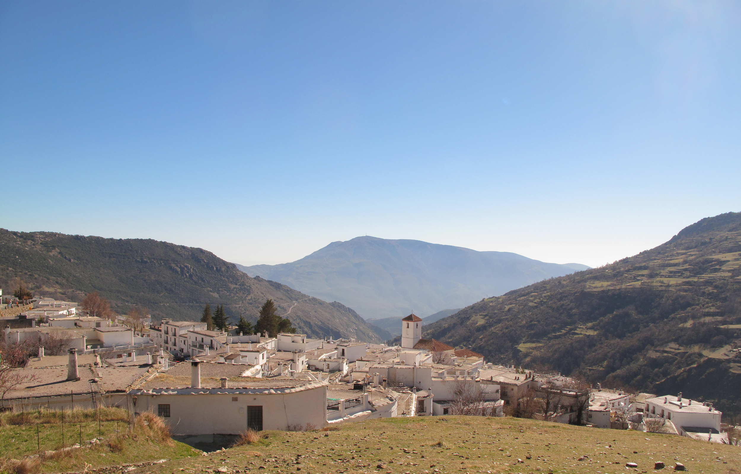 Hilltop towns in the mountains of Andulacia, Spain