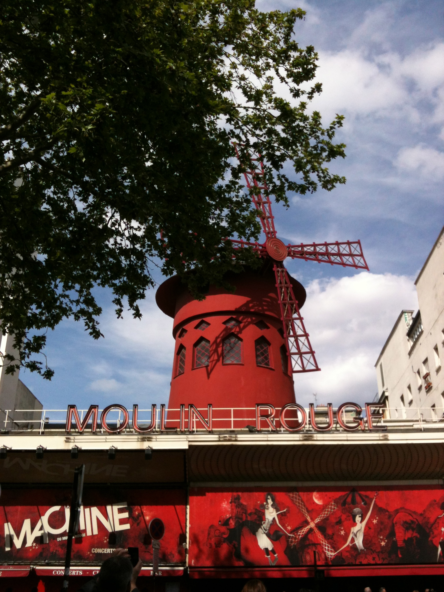The Moulin Rouge in Pigalle