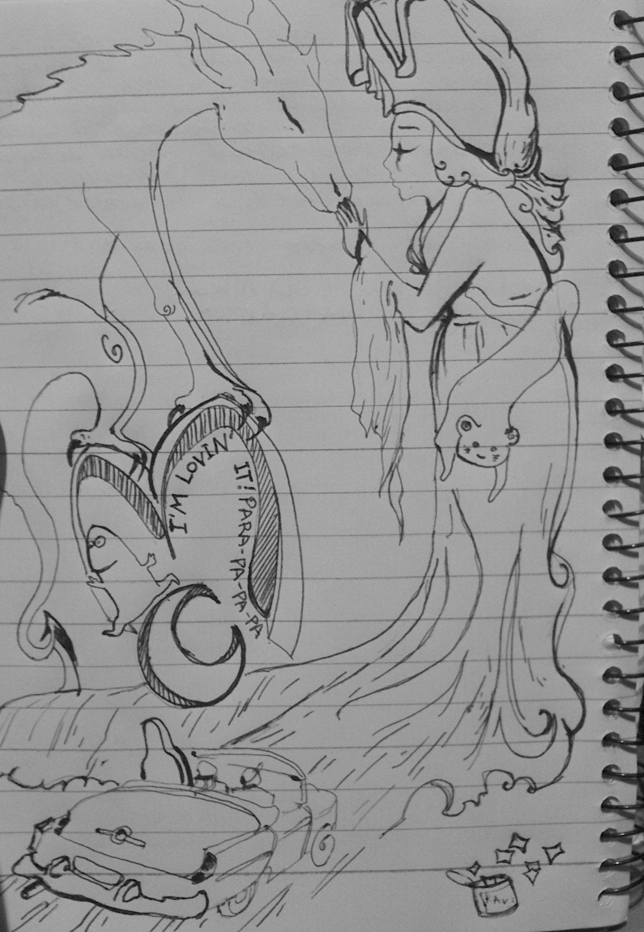 Drawings in the middle of the night