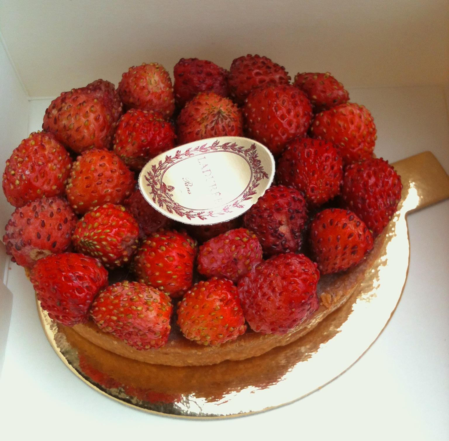 Wild strawberry tart from Laduree