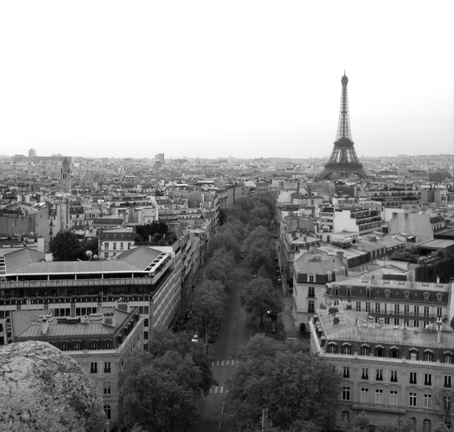 Paris as seen from the top of the Arc de Triomphe