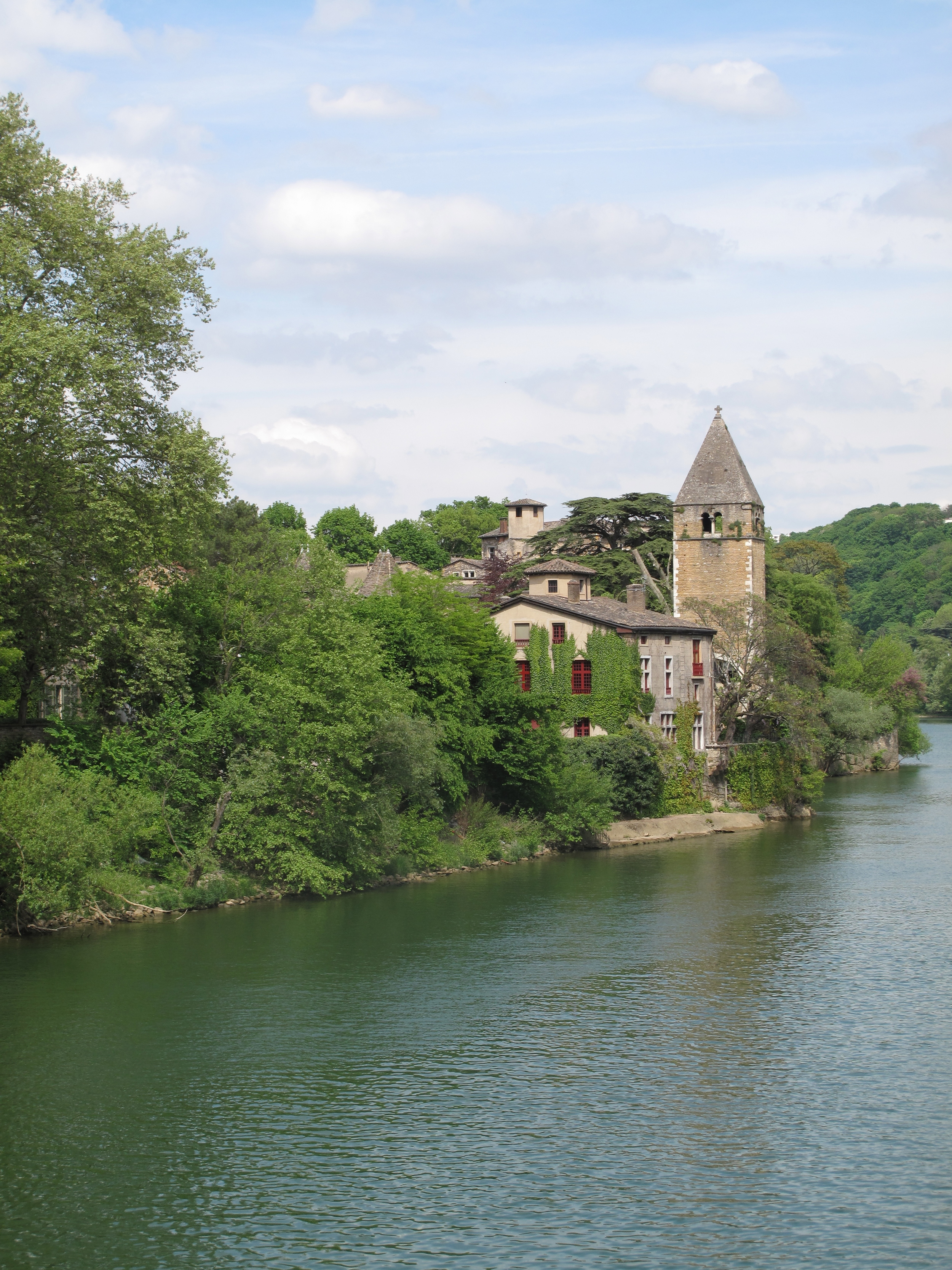 Île Barbe island of medieval castles and churches in Lyon