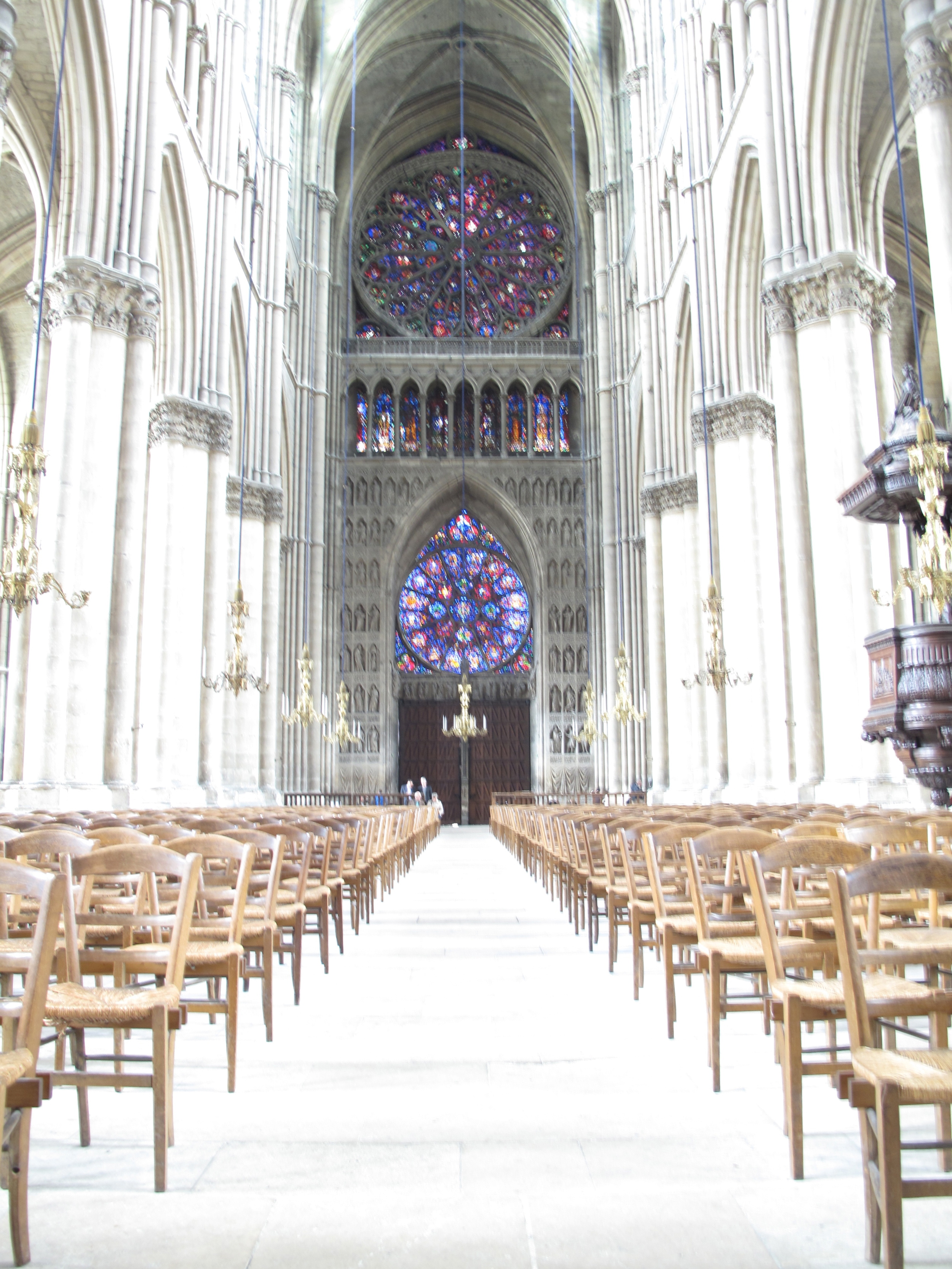 The nave of Reims Cathedral