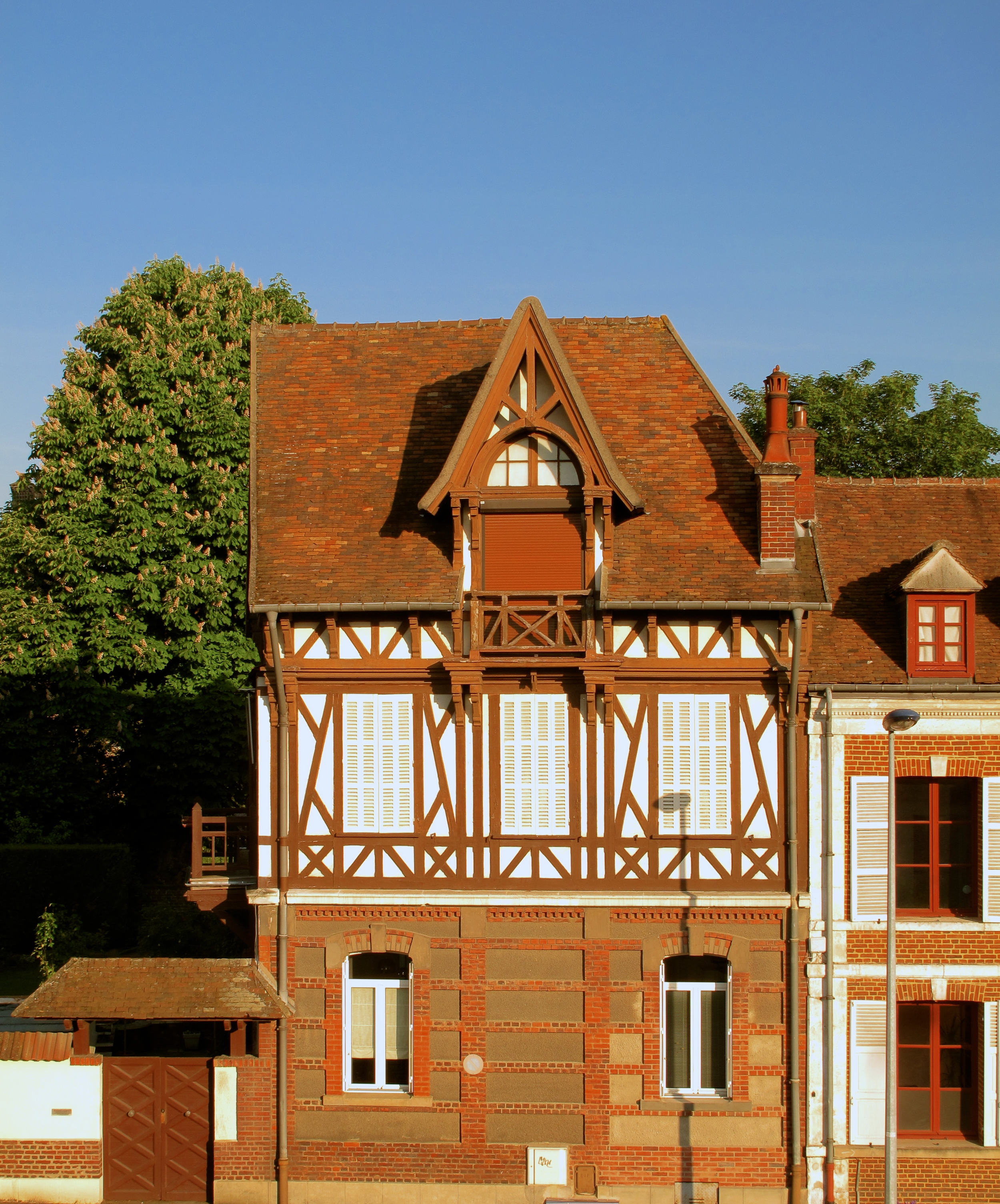 Old houses in timber framed rustic style - Beauvais