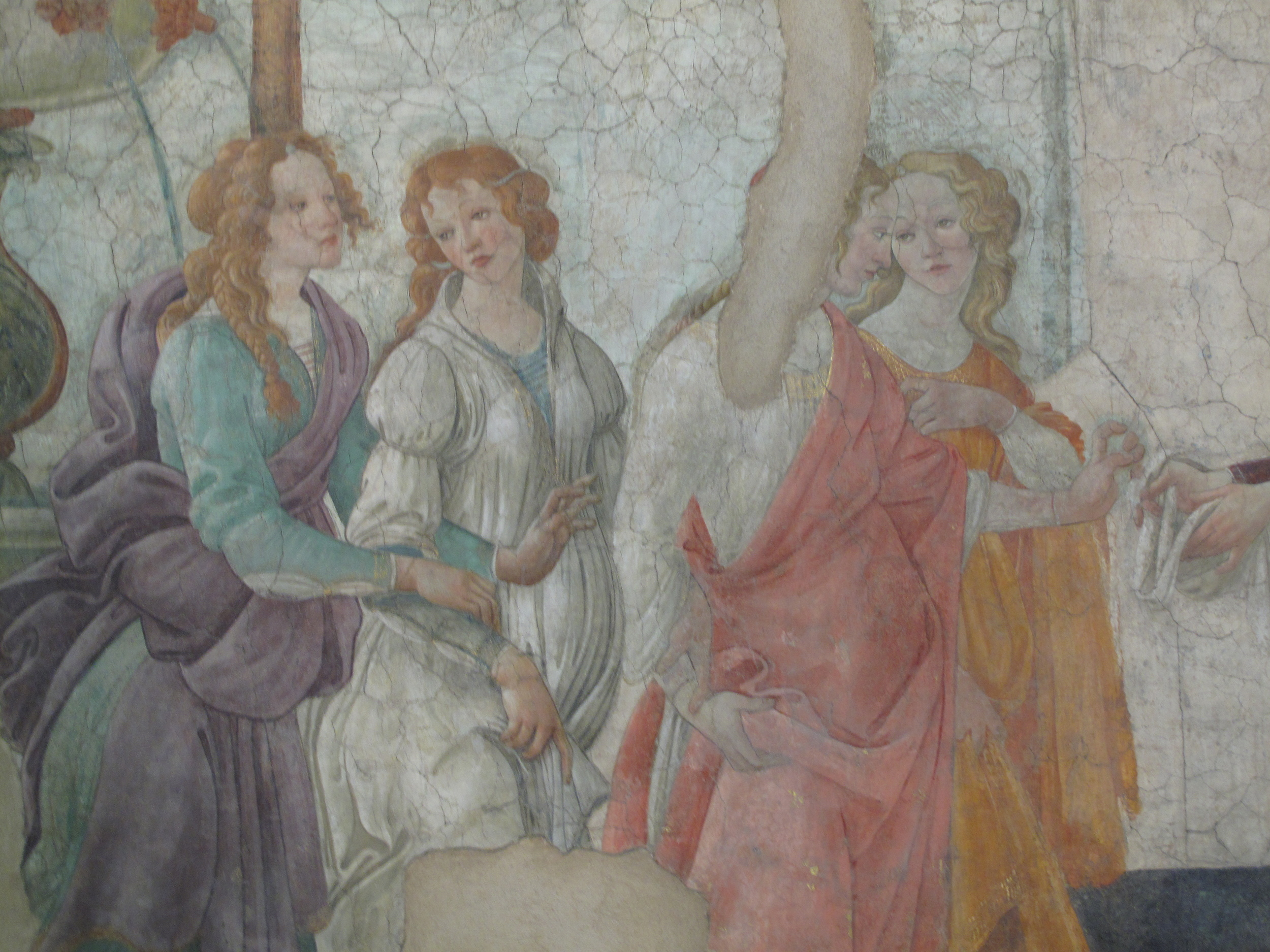 A photo of Botticelli's Venus and Three Graces