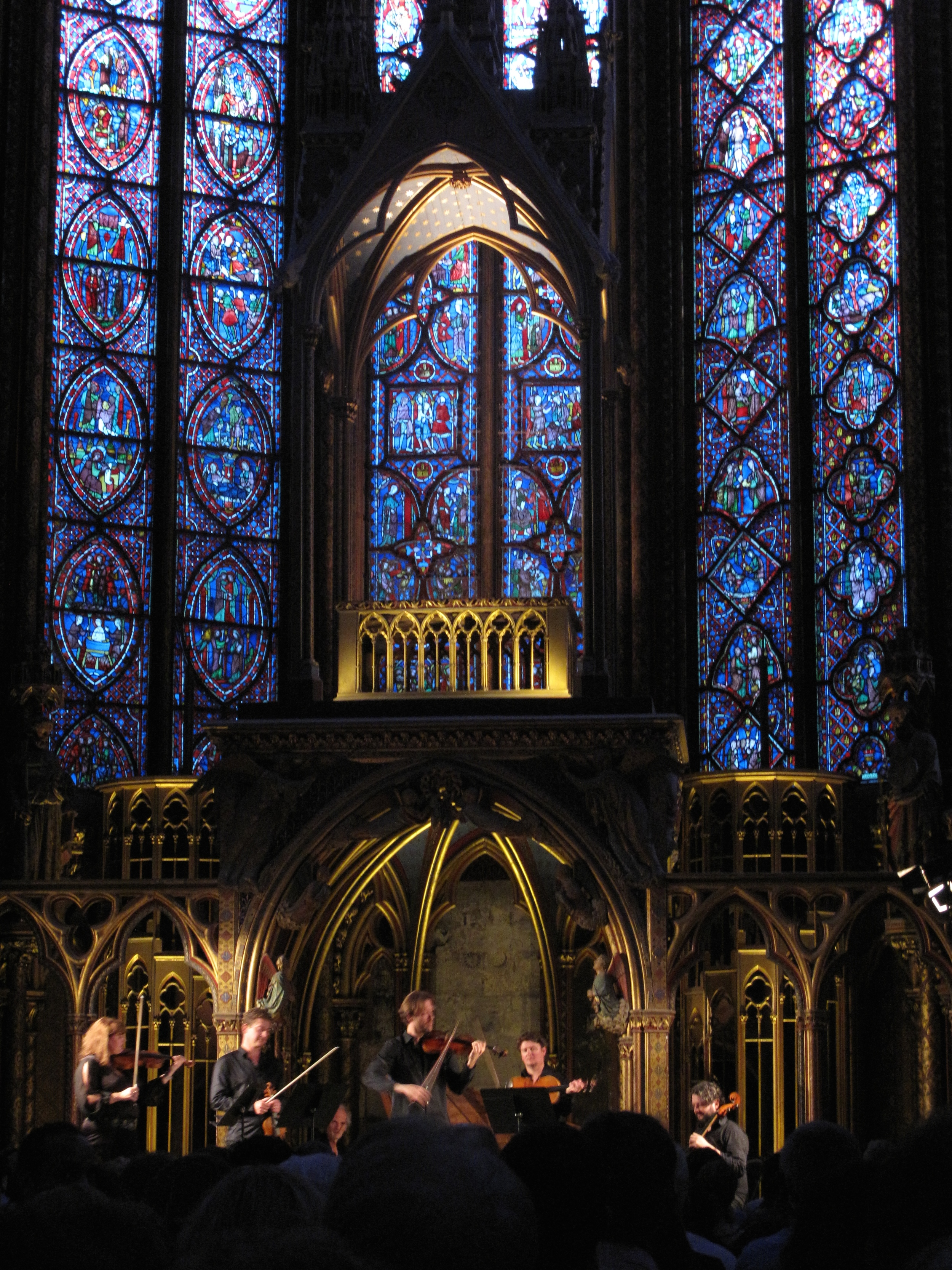 A concert of Vivaldi in St Chapelle, Paris