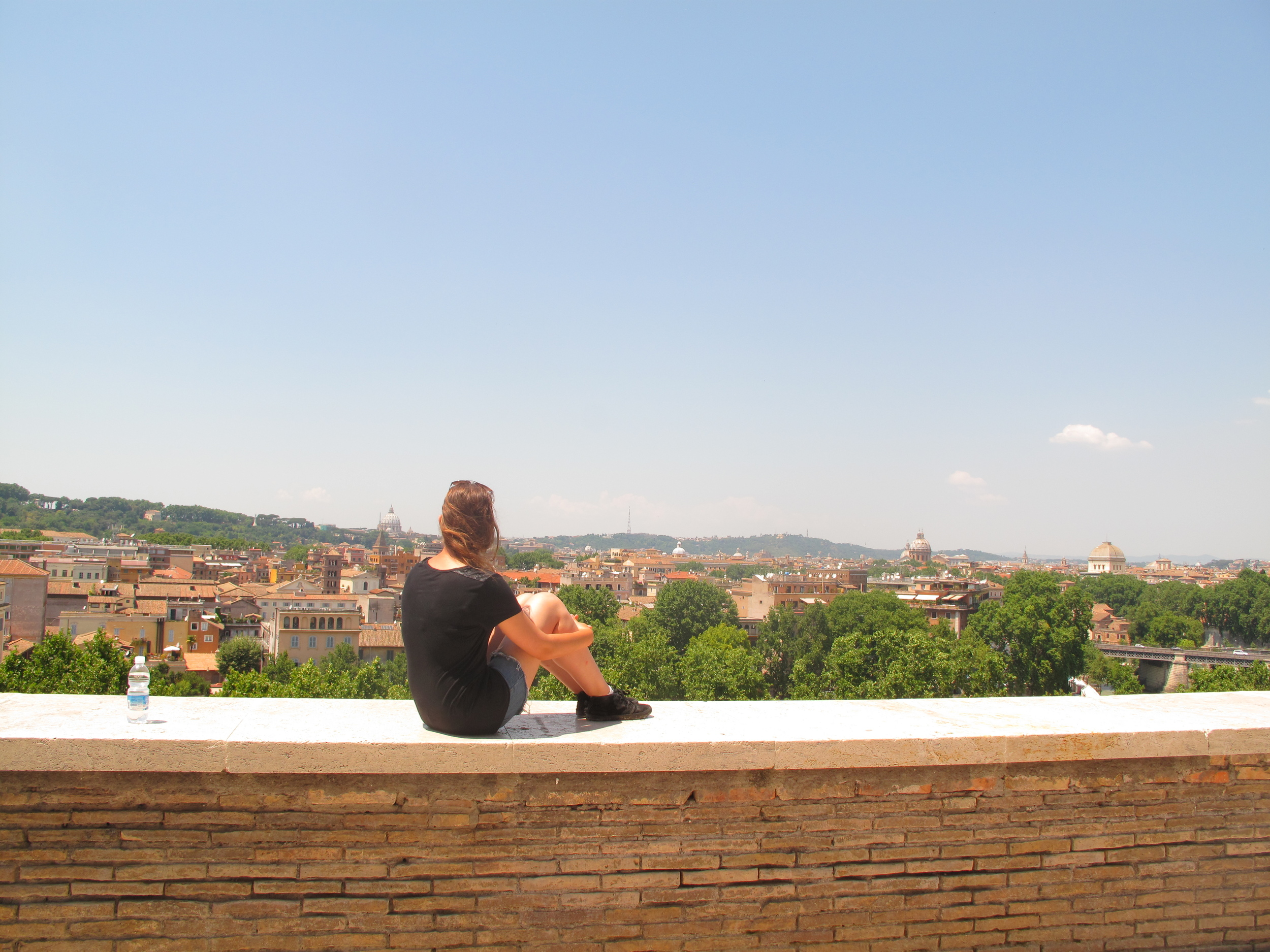 Looking out over Rome from the Giardino degli Aranci