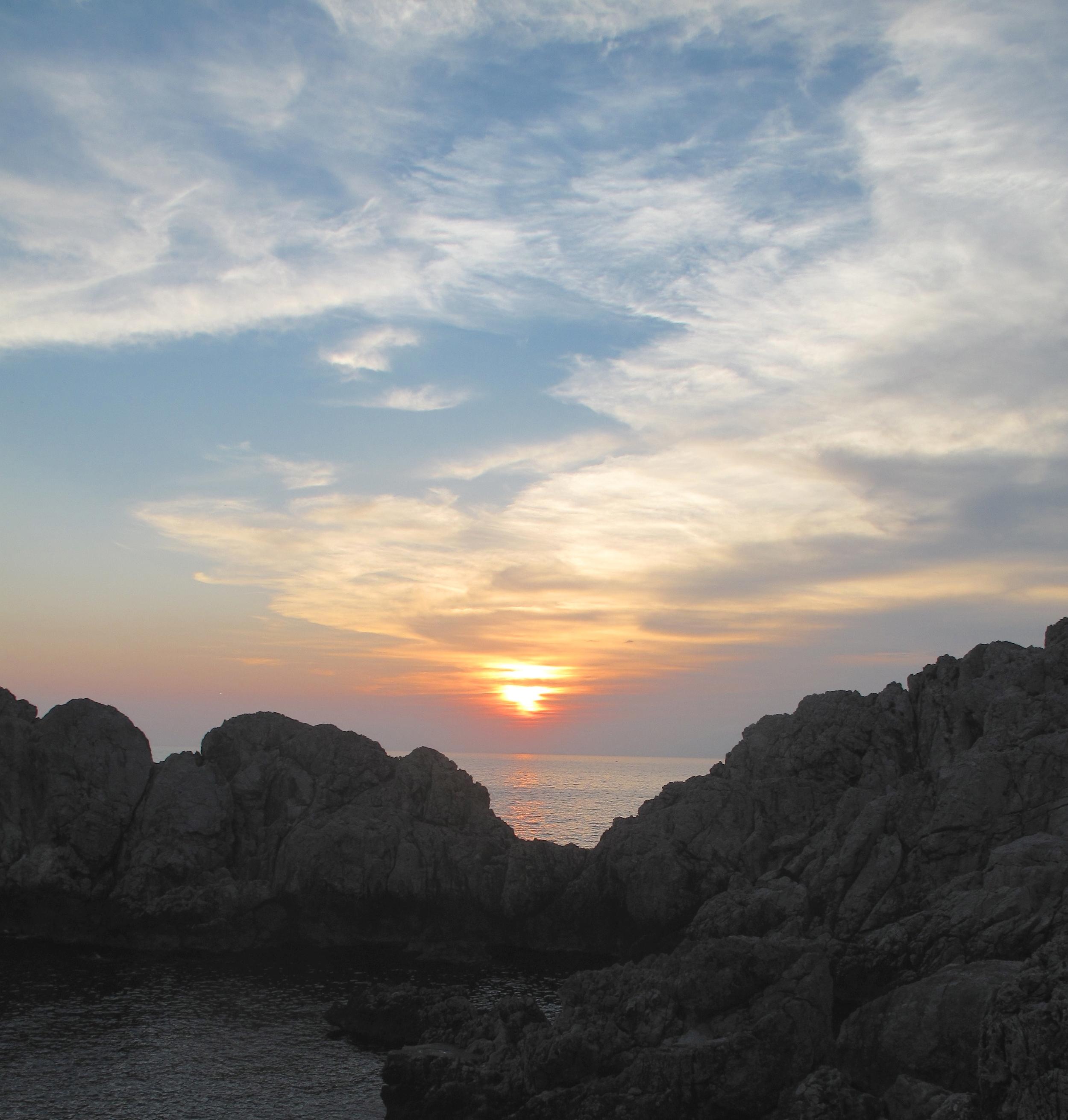 Sunset over Capri rocks