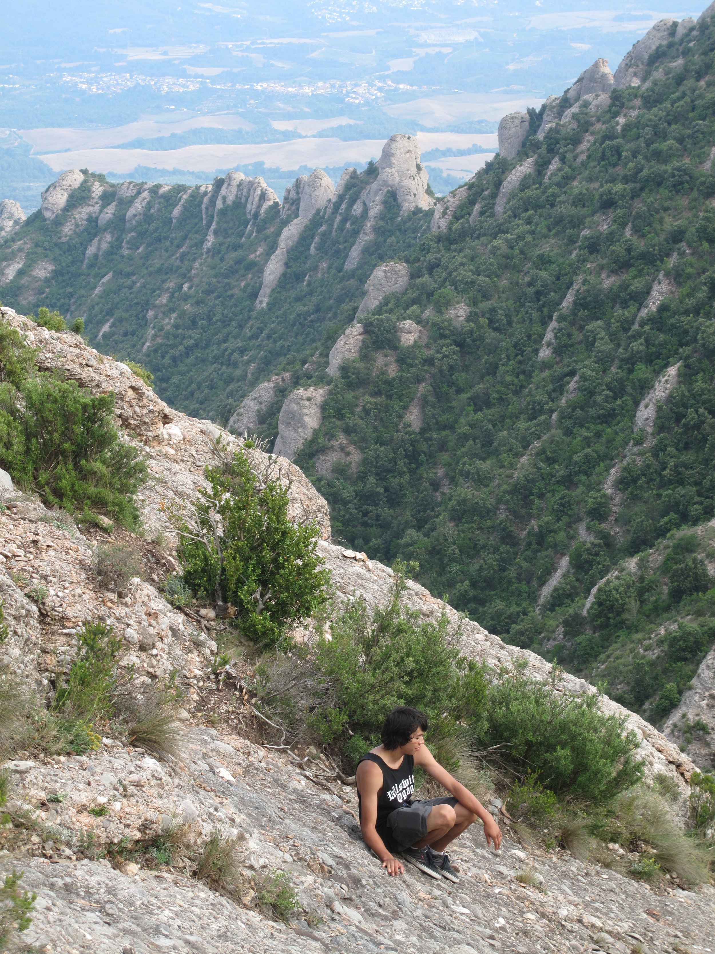 Sitting on the mountains of Montserrat above Catalonia