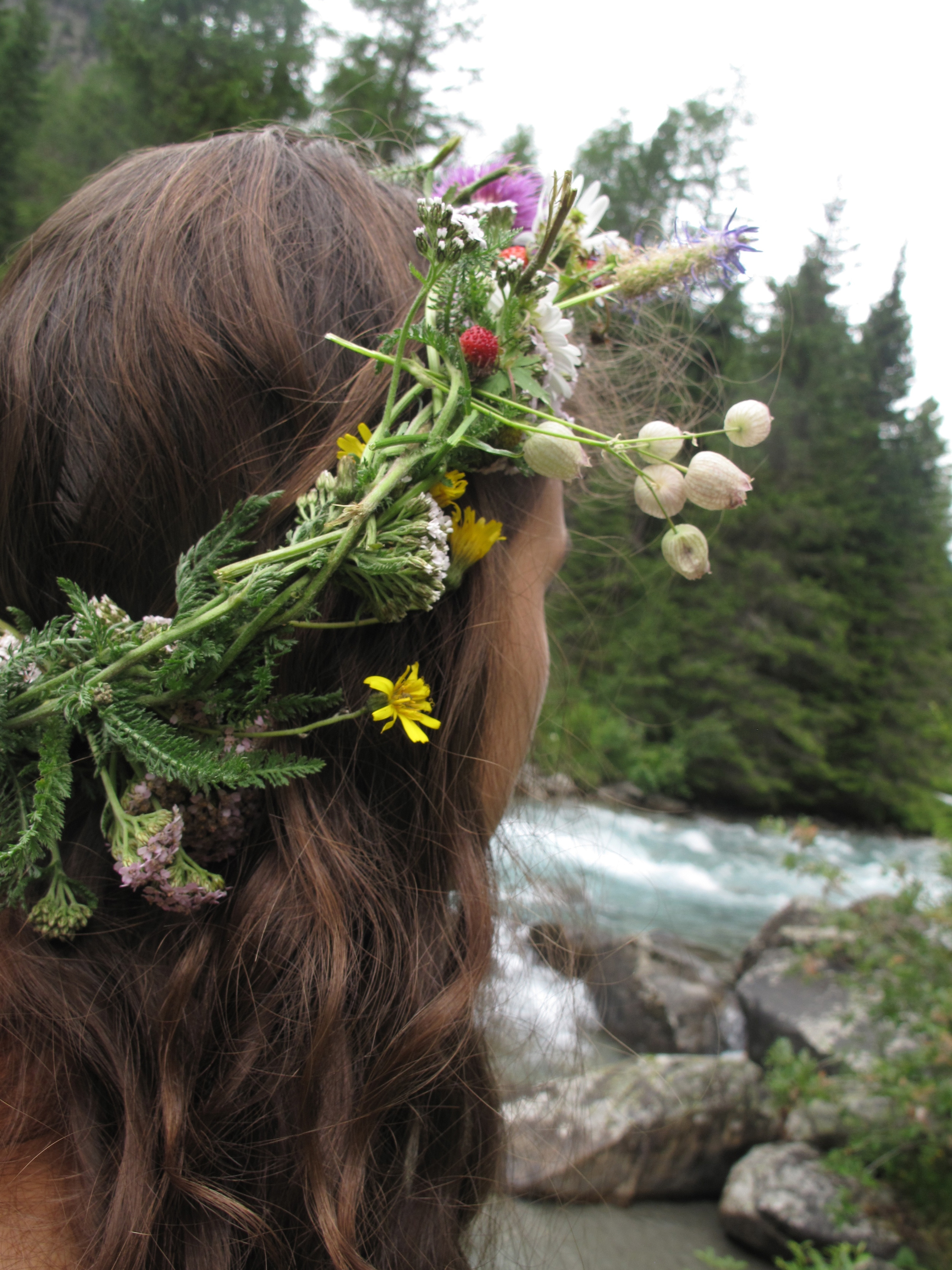 River nymph and a wild flower crown.
