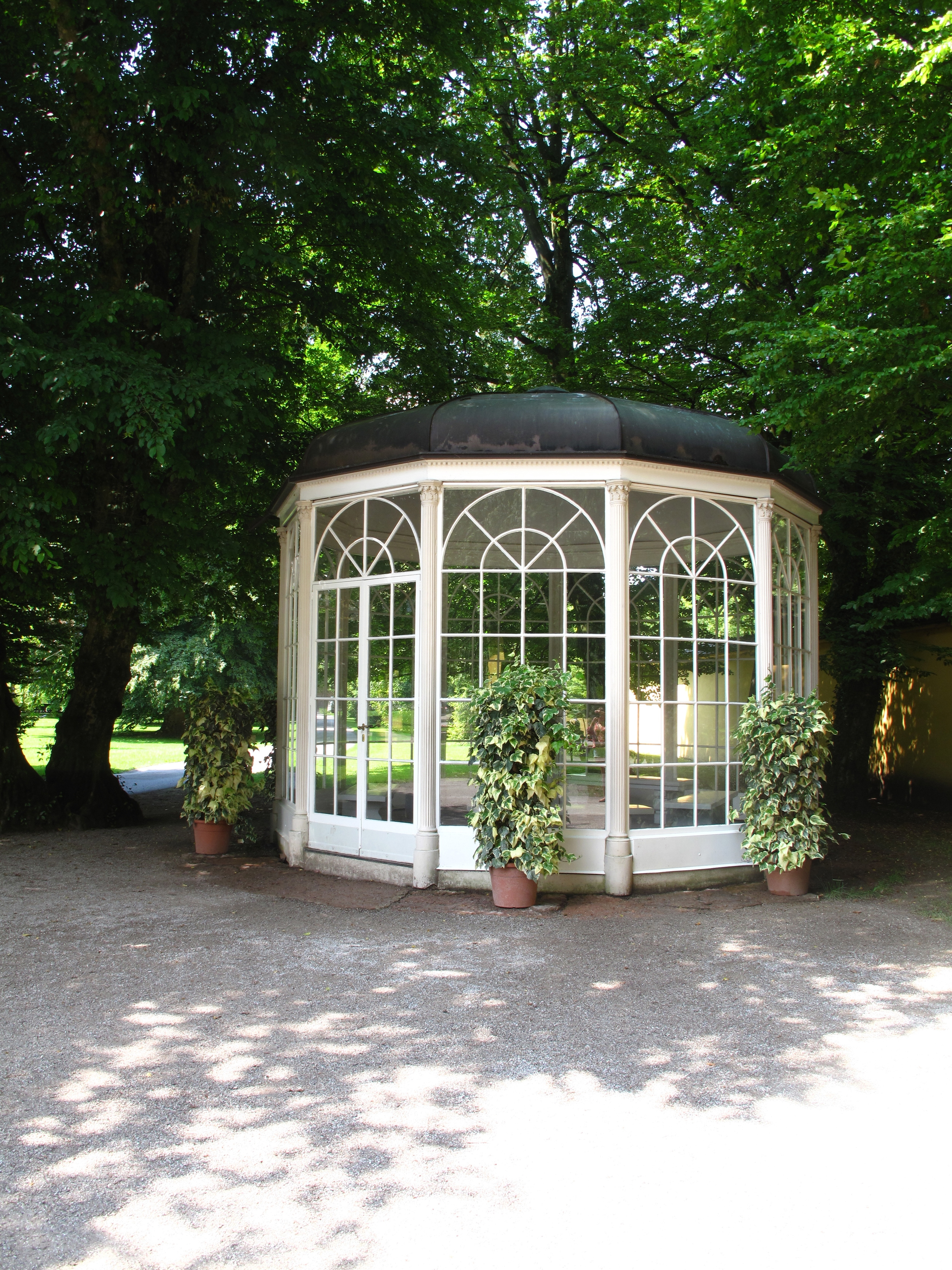The gazebo from Sound of Music's 'Sixteen Going on Seventeen'.