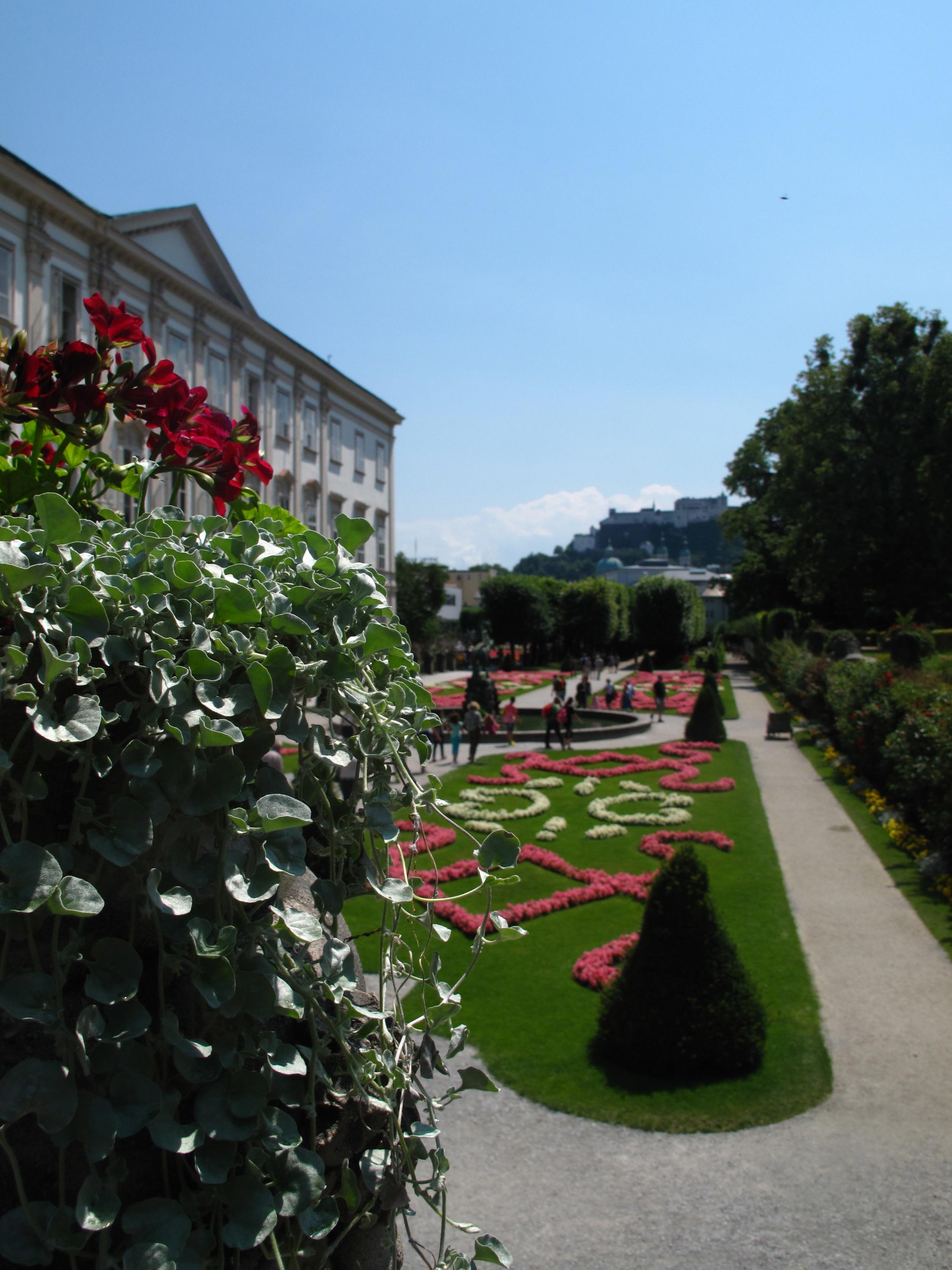 The Do Re Mi garden from the Sound of Music, in Salzburg.