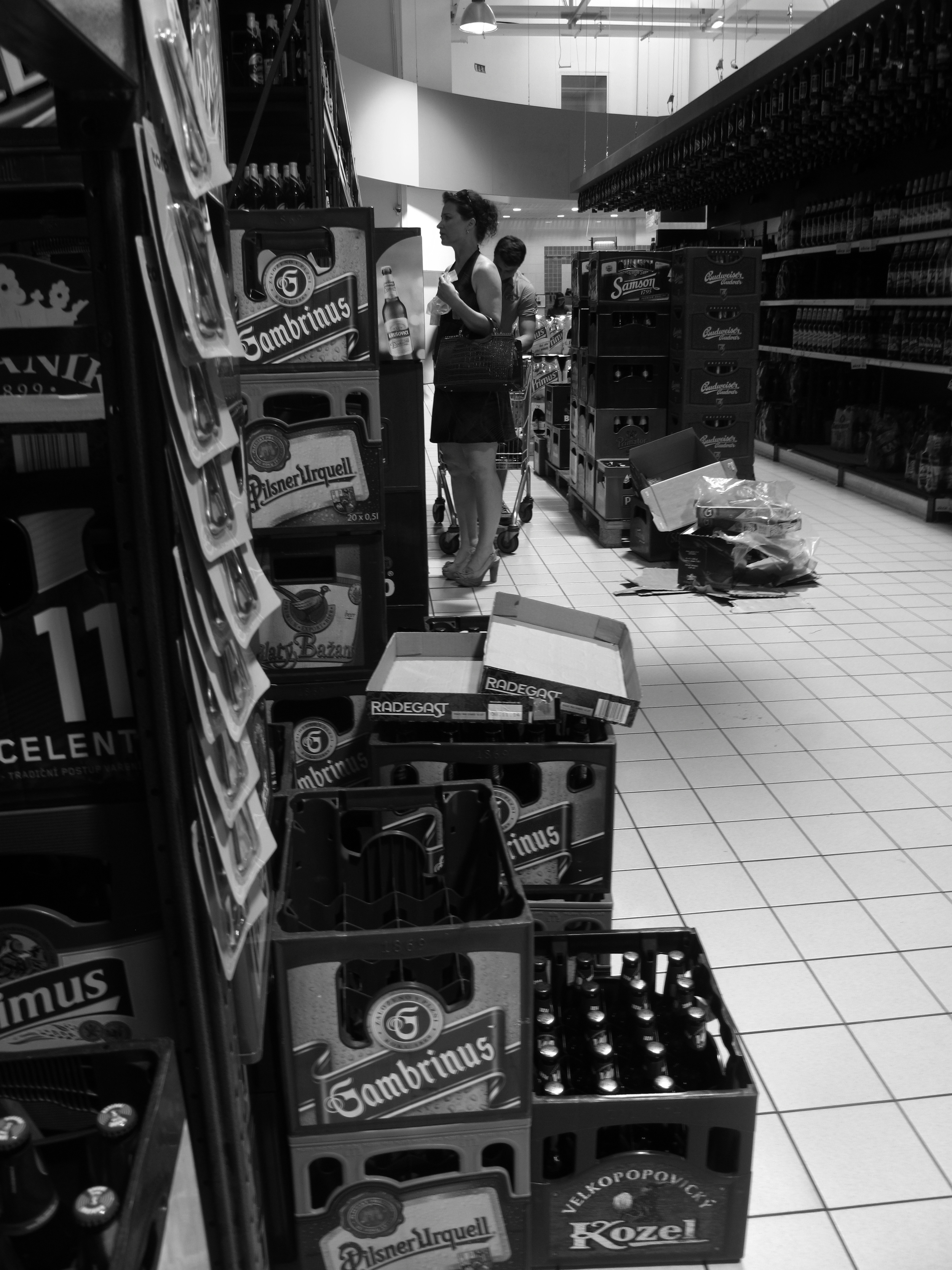 The huge beer section at Czech Republic supermarkets.