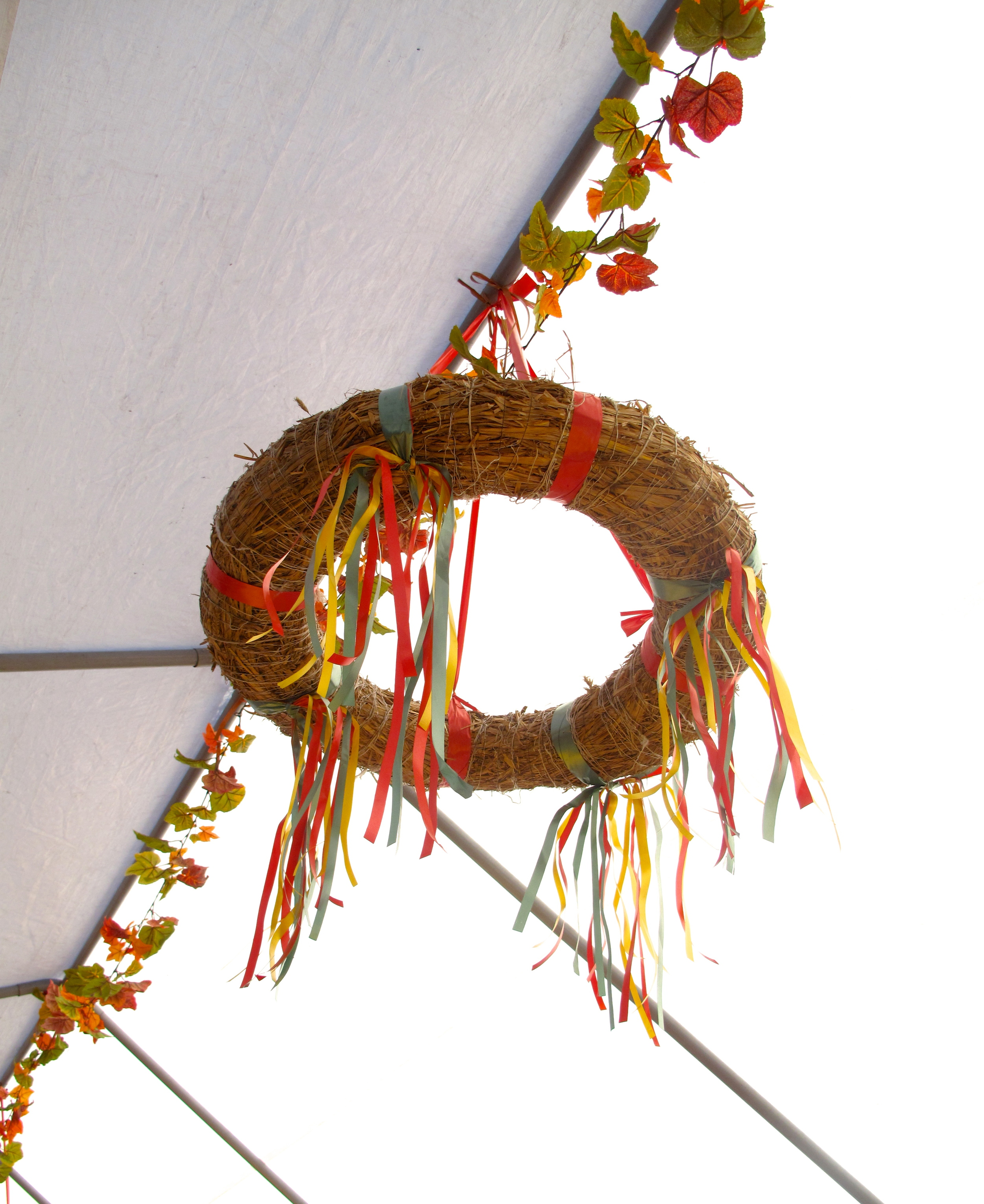 Spring wreath at the Weinfest in Wittenberg
