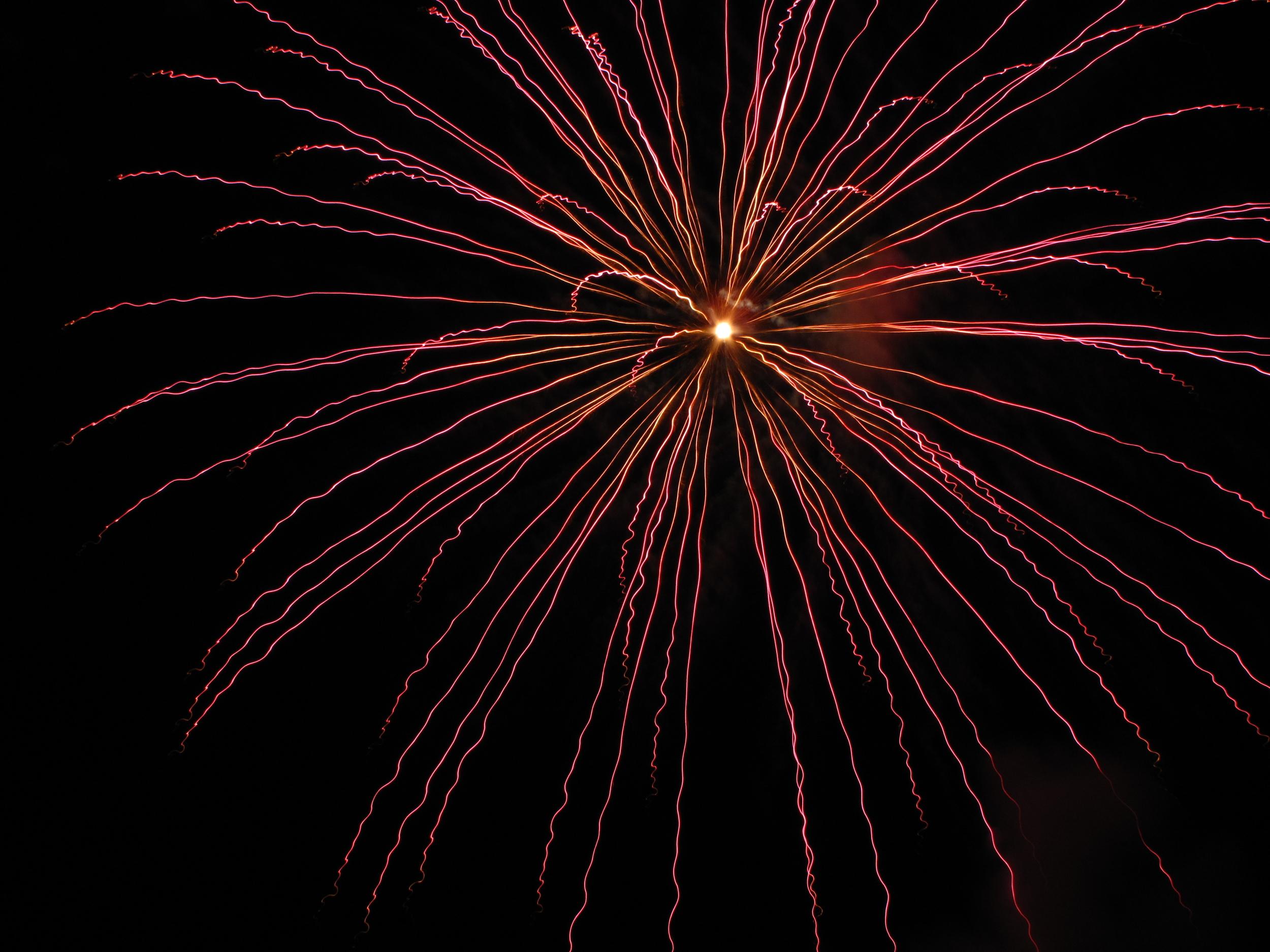 Fireworks in Les Eyzies de Tayac